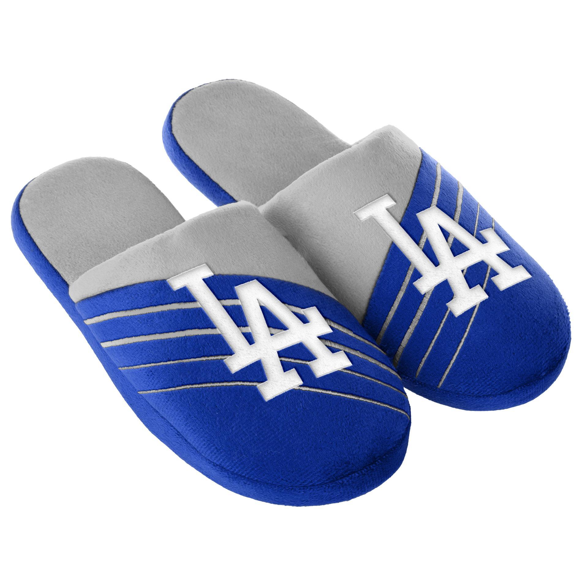 MLB Men's Los Angeles Dodgers Blue/Gray Slippers PartNumber: 046VA91748012P MfgPartNumber: SLPMB16BLGBOL