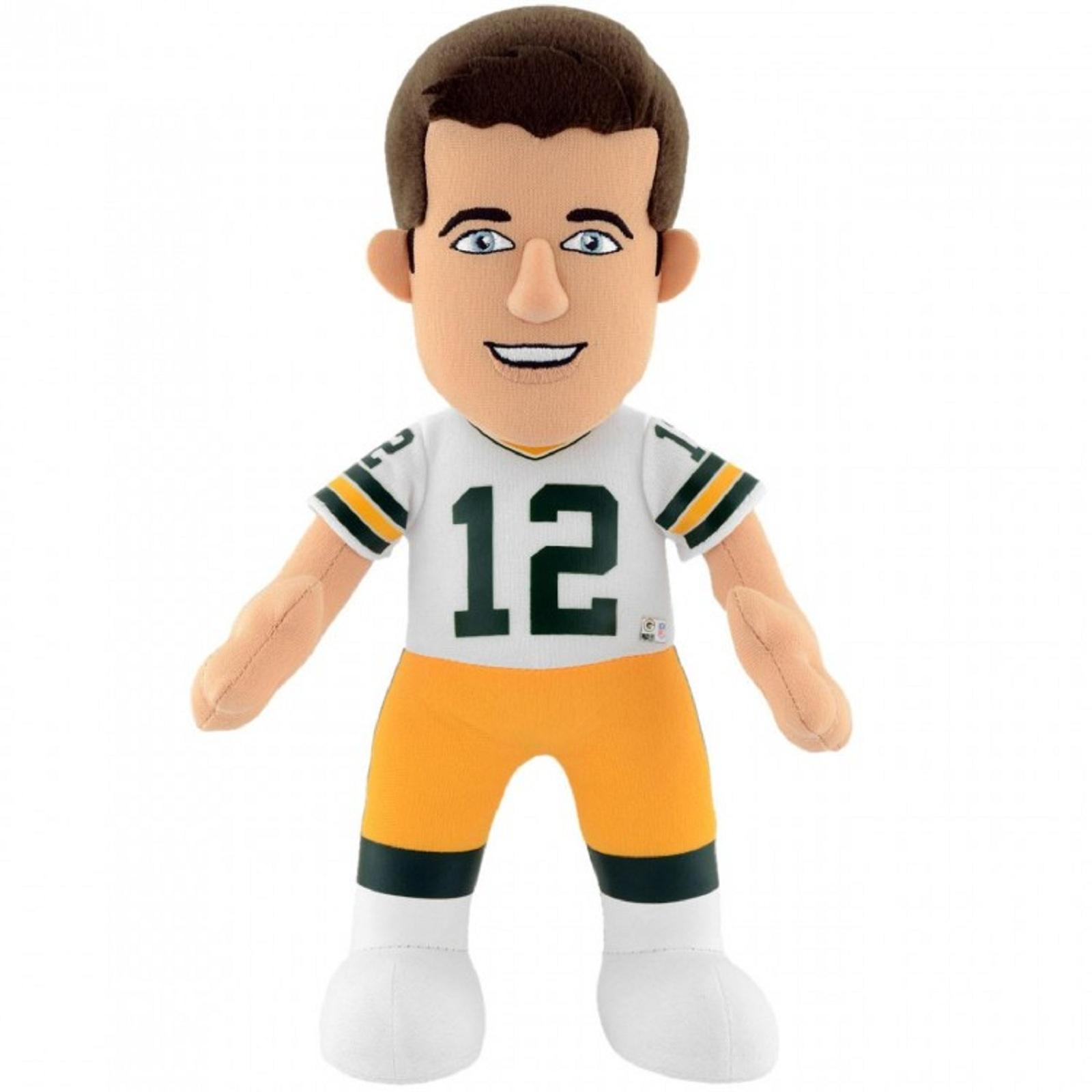 Green Bay Packers Aaron Rodgers 10 inch Plush Figure - White Jersey PartNumber: 046W008896993001P