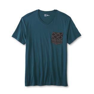 Route 66 men 39 s v neck pocket t shirt tribal for Men s v neck pocket tee shirts