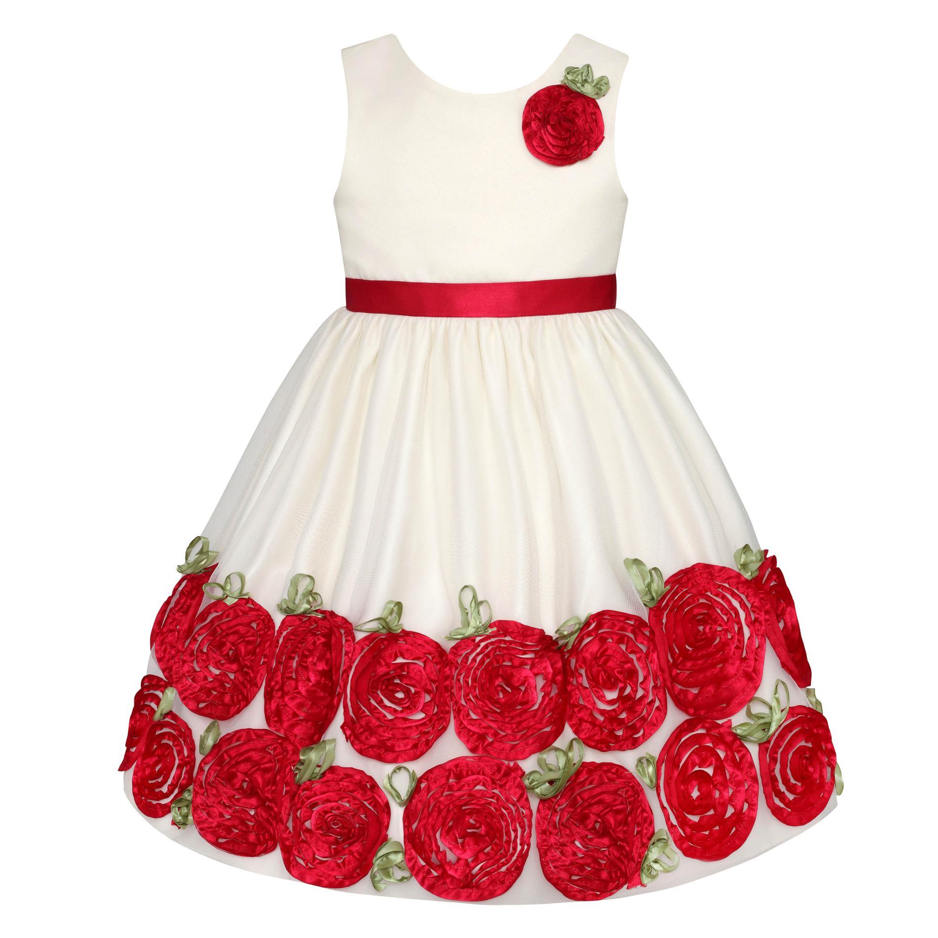 Newborn, Infant & Toddler Girls' Occasion Dress & Diaper Cover - Rosette