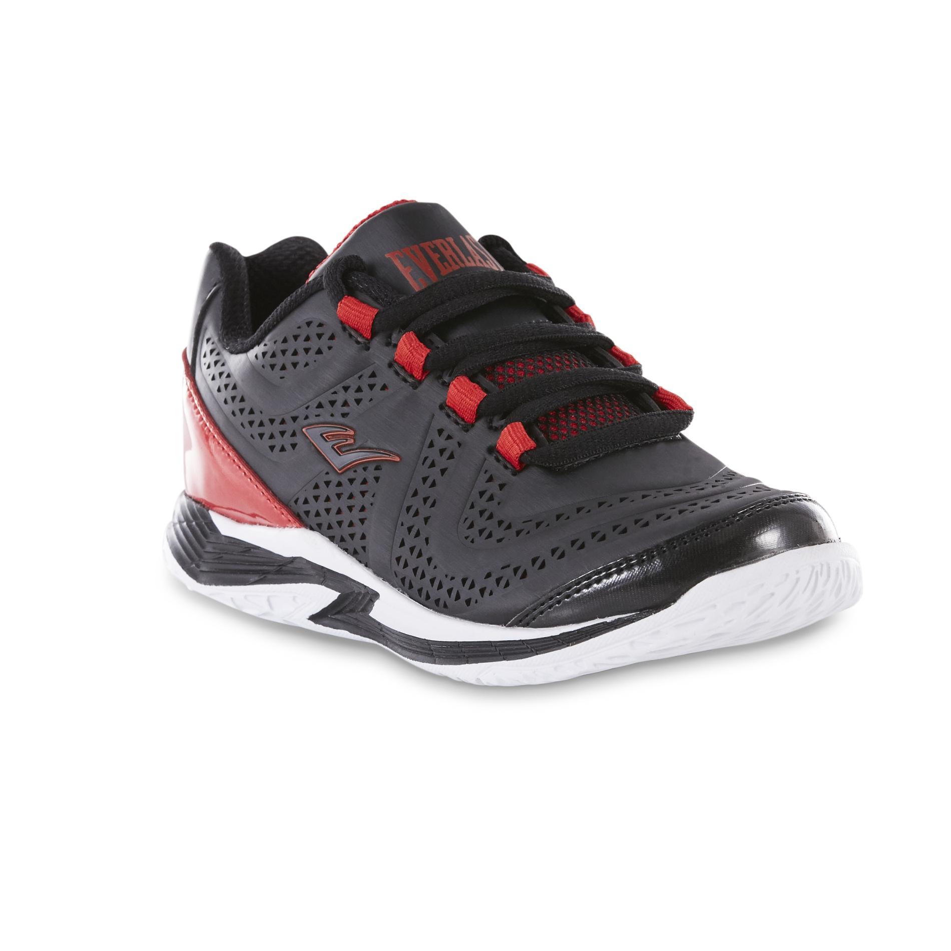 Boys' Cayenne Black/Red High-Top Basketball Shoe