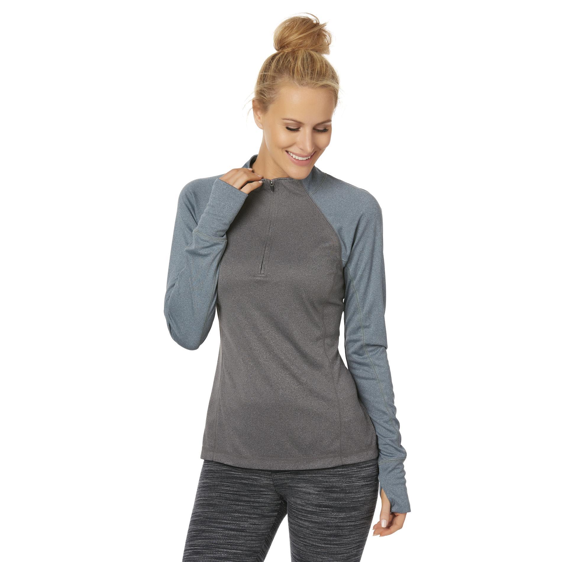 Everlast® Women's Quarter-Zip Performance Shirt - Colorblock PartNumber: 007VA92402412P MfgPartNumber: WP7EL78219MI