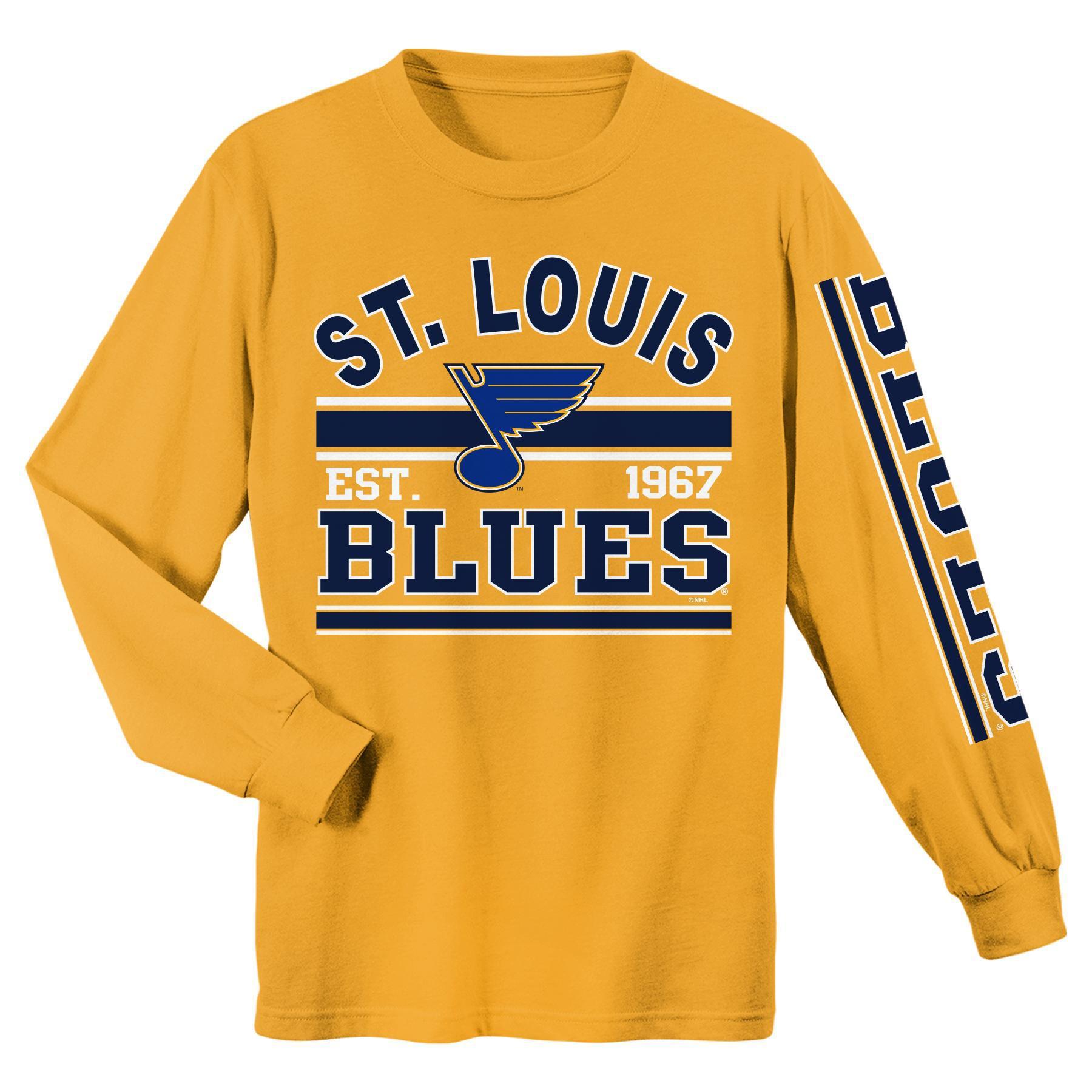 NHL Boys Long Sleeve Graphic T Shirt St Louis Blues