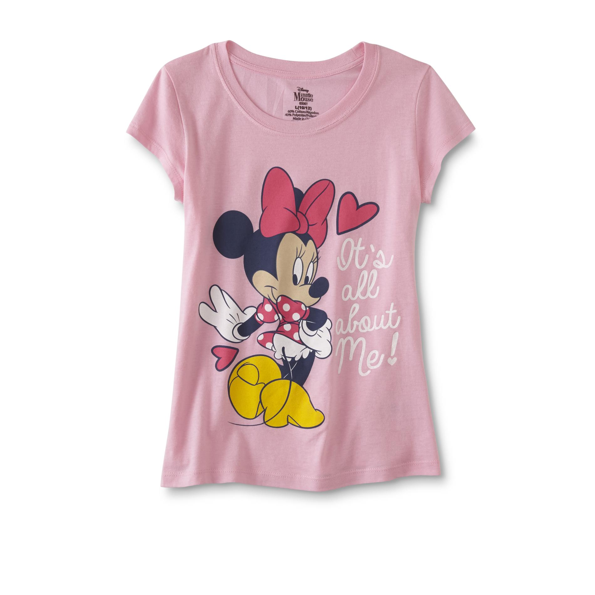 ea6f1227f Disney Minnie Mouse Girls' Graphic T-Shirt - It's All About Me