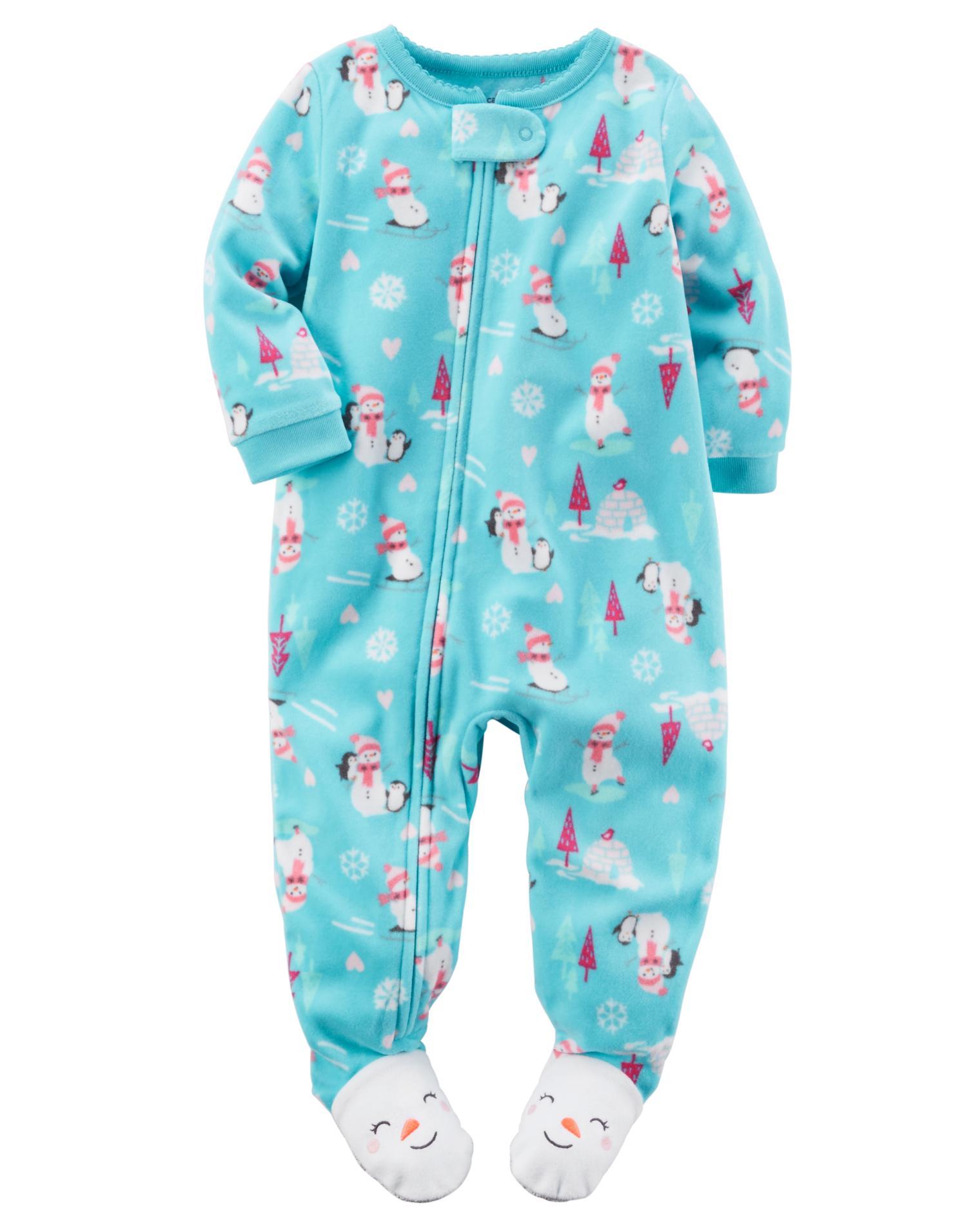 Carter's® Infant & Toddler Girls' Fleece Footed Pajamas ...