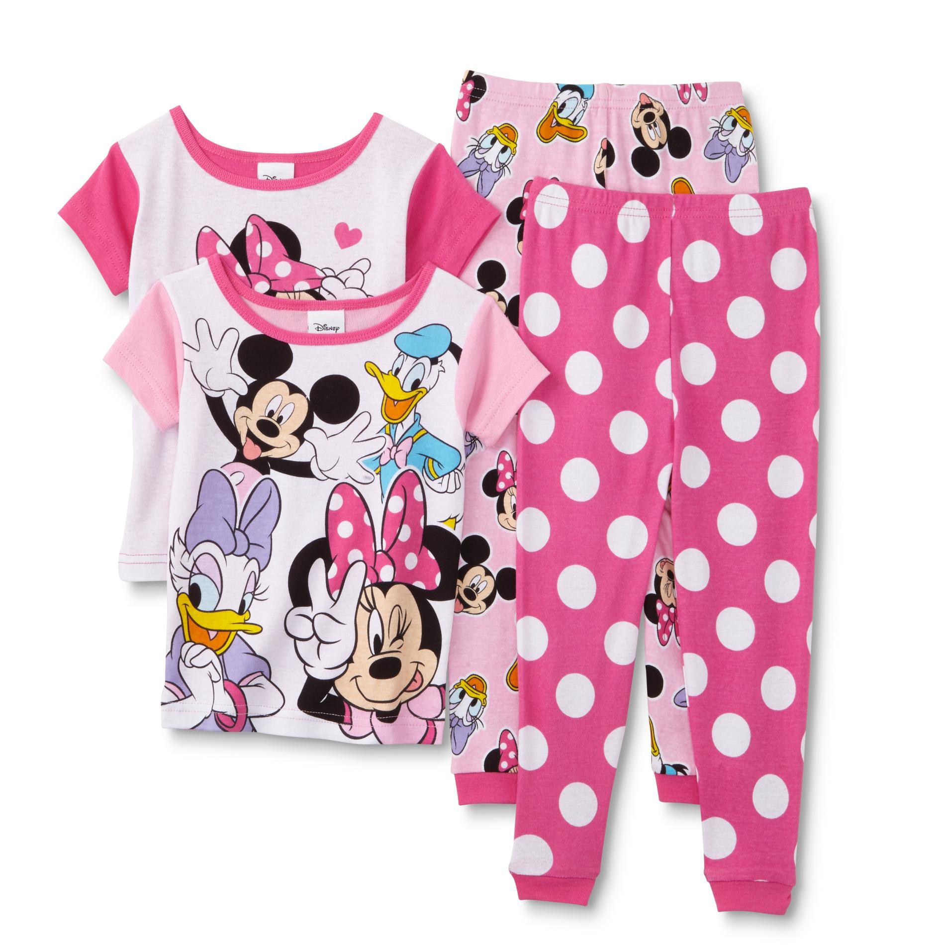Toddler Girls' 2-Pairs Pajamas