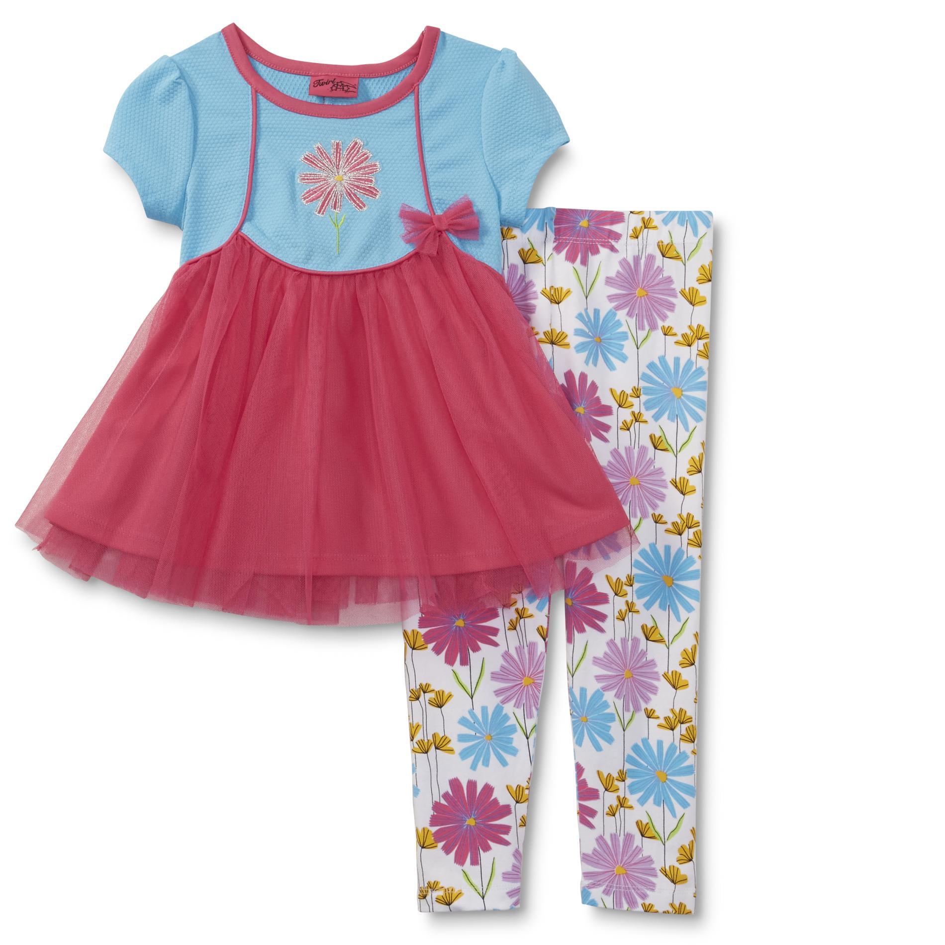 Twirl Infant & Toddler Girls' Tunic Top & Leggings - Floral PartNumber: 029VA93512012P MfgPartNumber: TWT828189