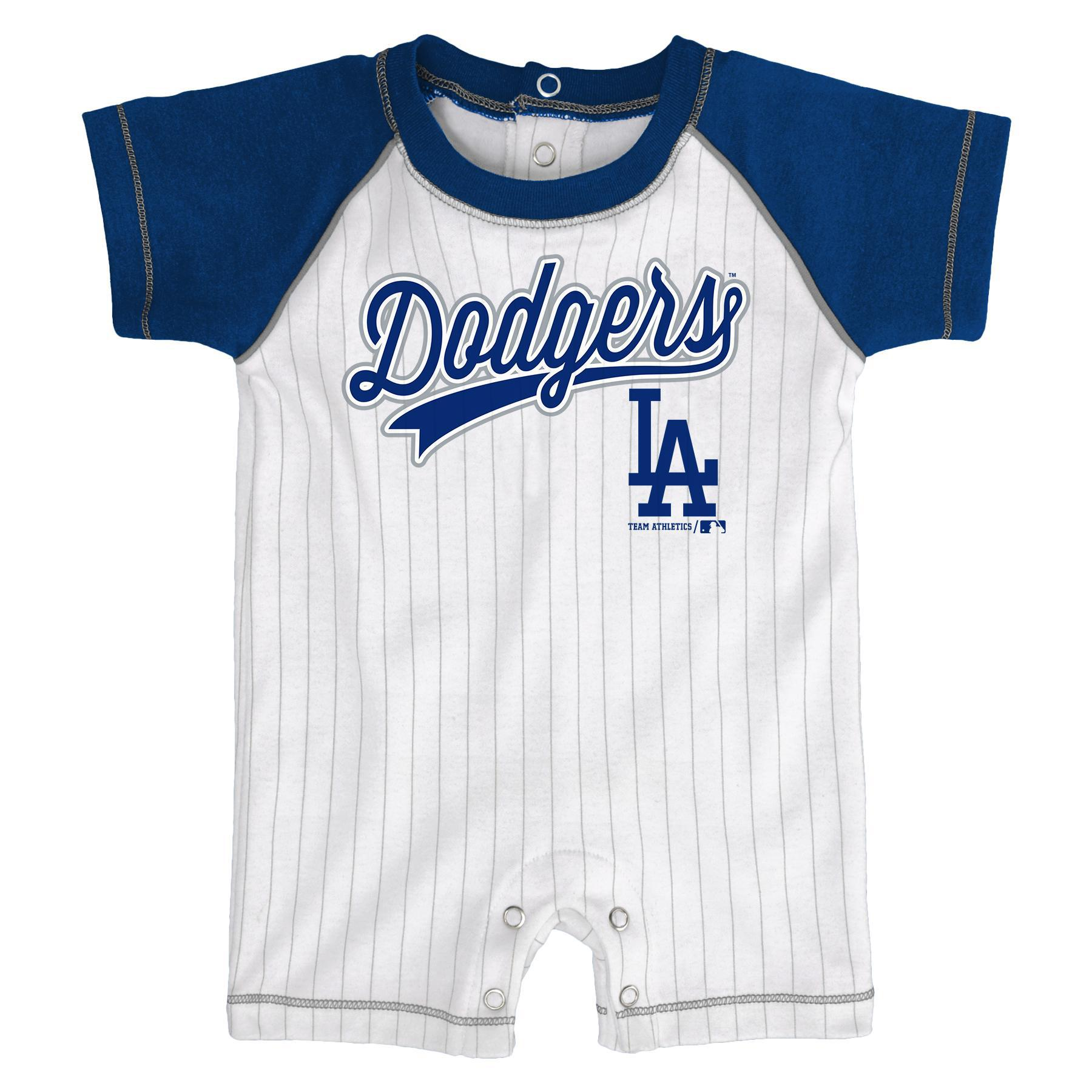 Mlb Newborn Infant Boys Romper Los Angeles Dodgers