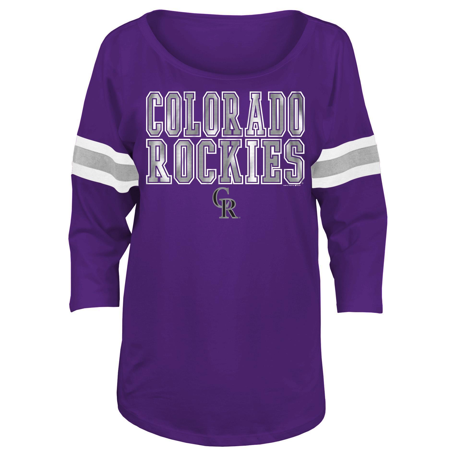 MLB Women's Plus Dolman Top - Colorado Rockies PartNumber: 046VA95492612P MfgPartNumber: 40009HPM1016433