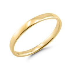 10k Yellow Gold 2mm Las Wedding Band