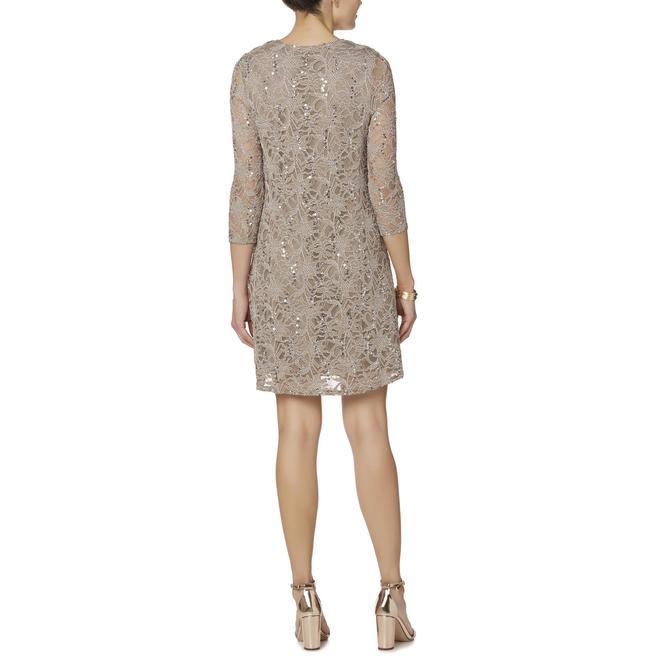 Tiana B Womens Lace Shift Dress