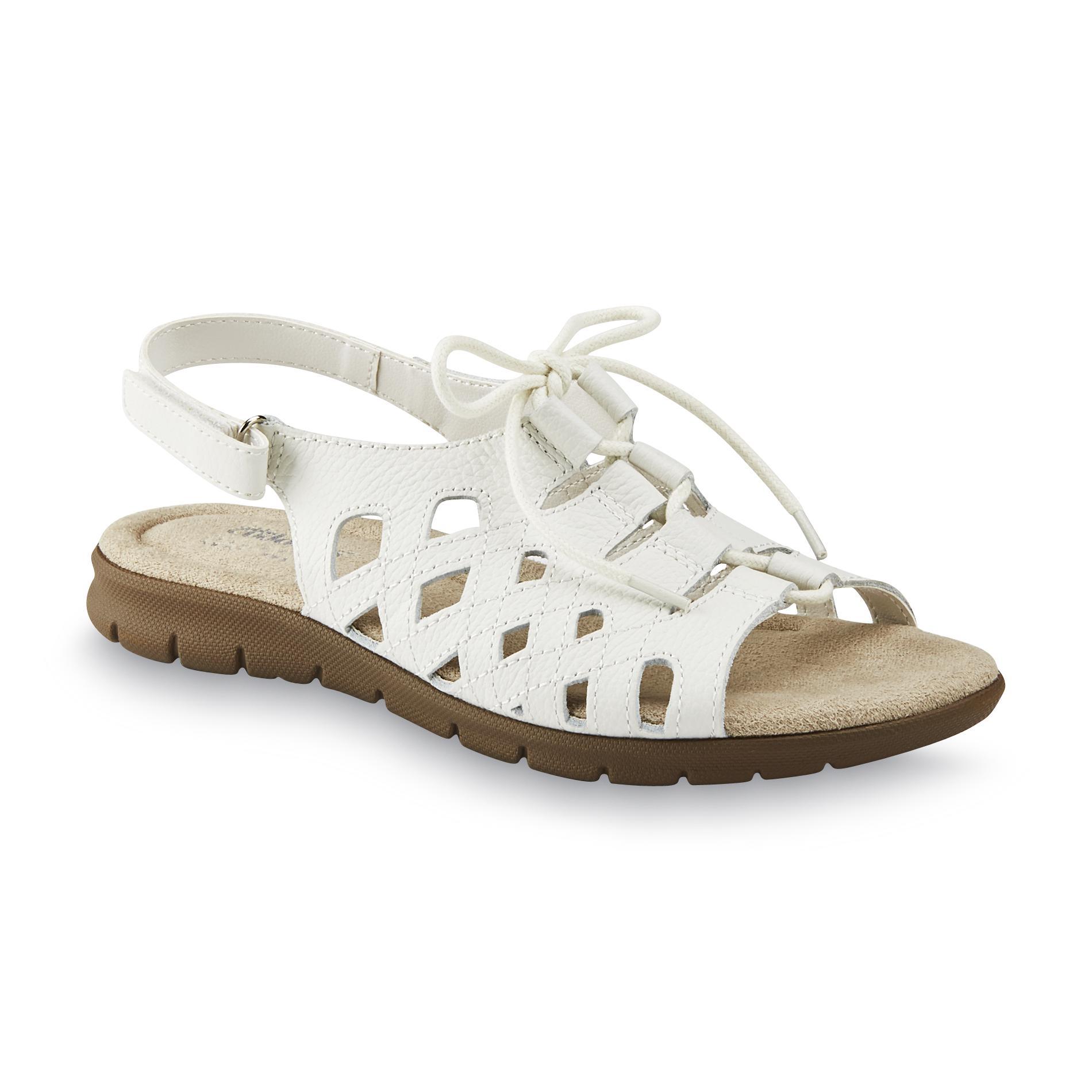 Women's Michaelene White Slingback Sandal - Wide Width