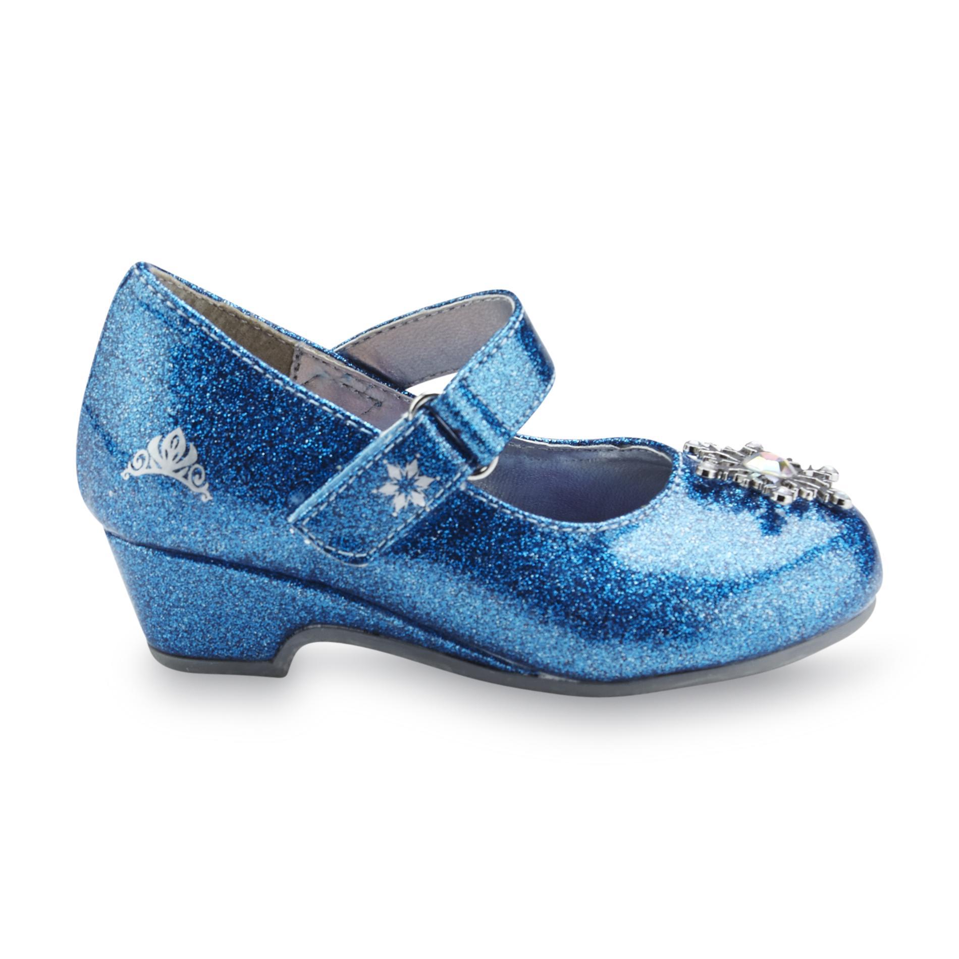disney toddler s frozen sparkle blue dress shoe