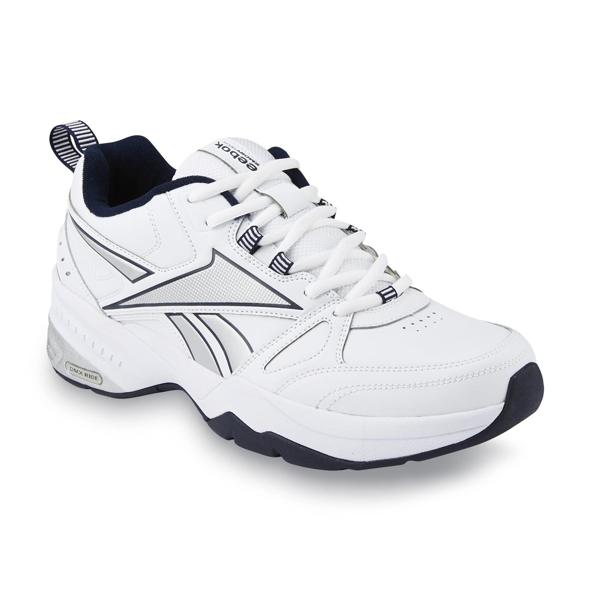 Reebok Men's Royal Trainer White/Gray/Navy Cross-Training Shoe - Extra Wide Width