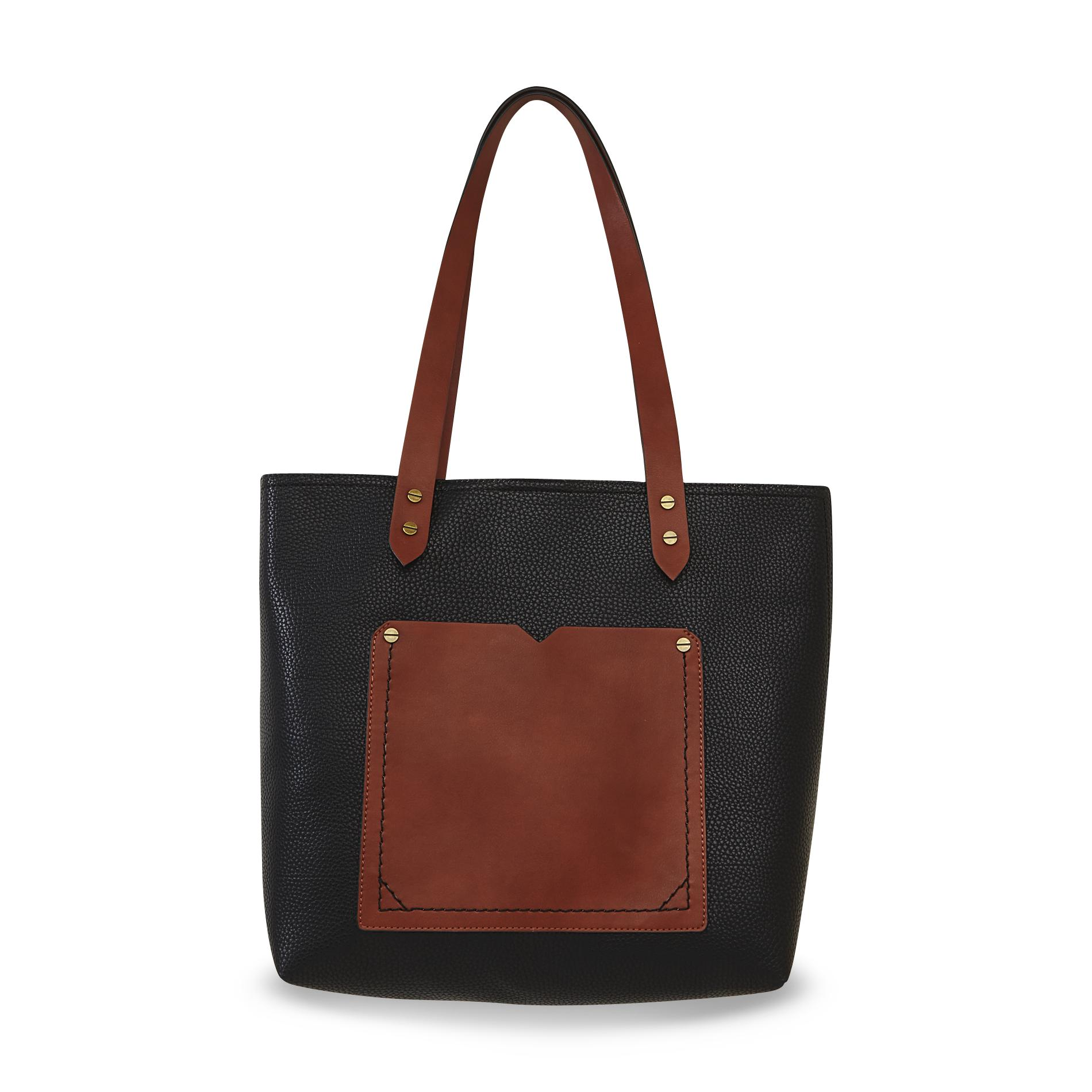 Canyon River Blues Women's Nevada Two-Tone Synthetic Leather Tote Bag