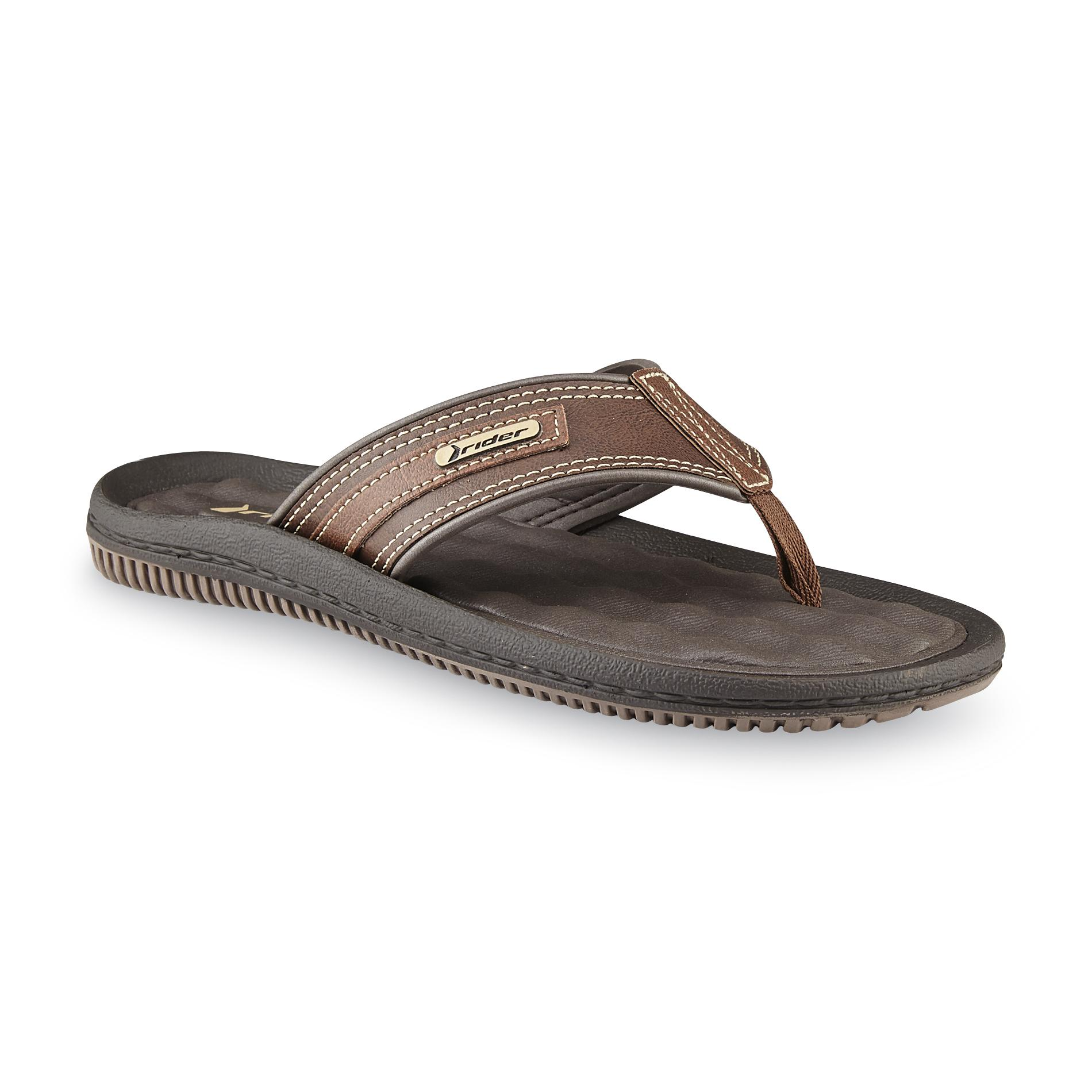 Riders Sandals Men's Dunas II Brown Flip-Flop