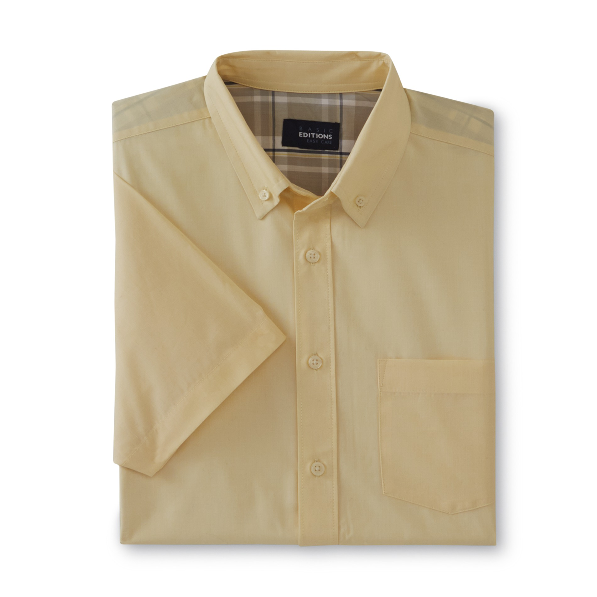 Basic Editions Men's Big & Tall Easy Care Short-Sleeve Dress Shirt
