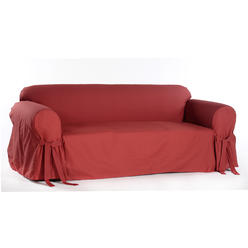 Clic Slipcovers Cotton Duck One Piece Loveseat Slipcover