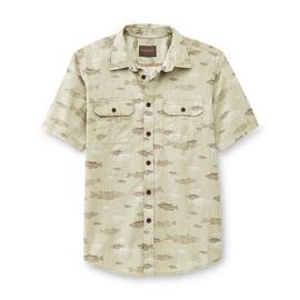 Northwest Territory Men's Big & Tall Button-Front Shirt - Fish at Kmart.com