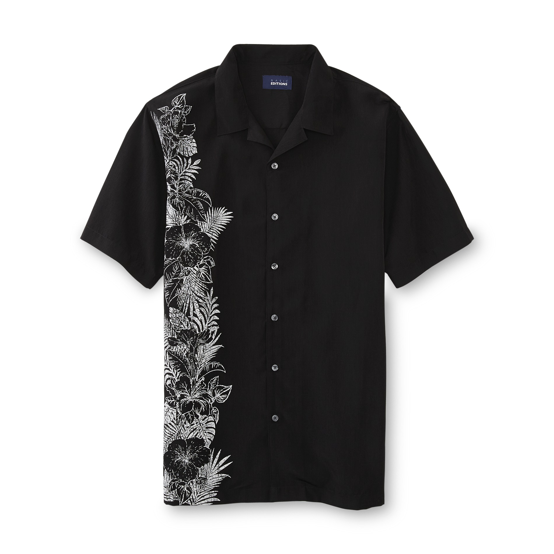 Basic Editions  Men's Sport Shirt - Hibiscus