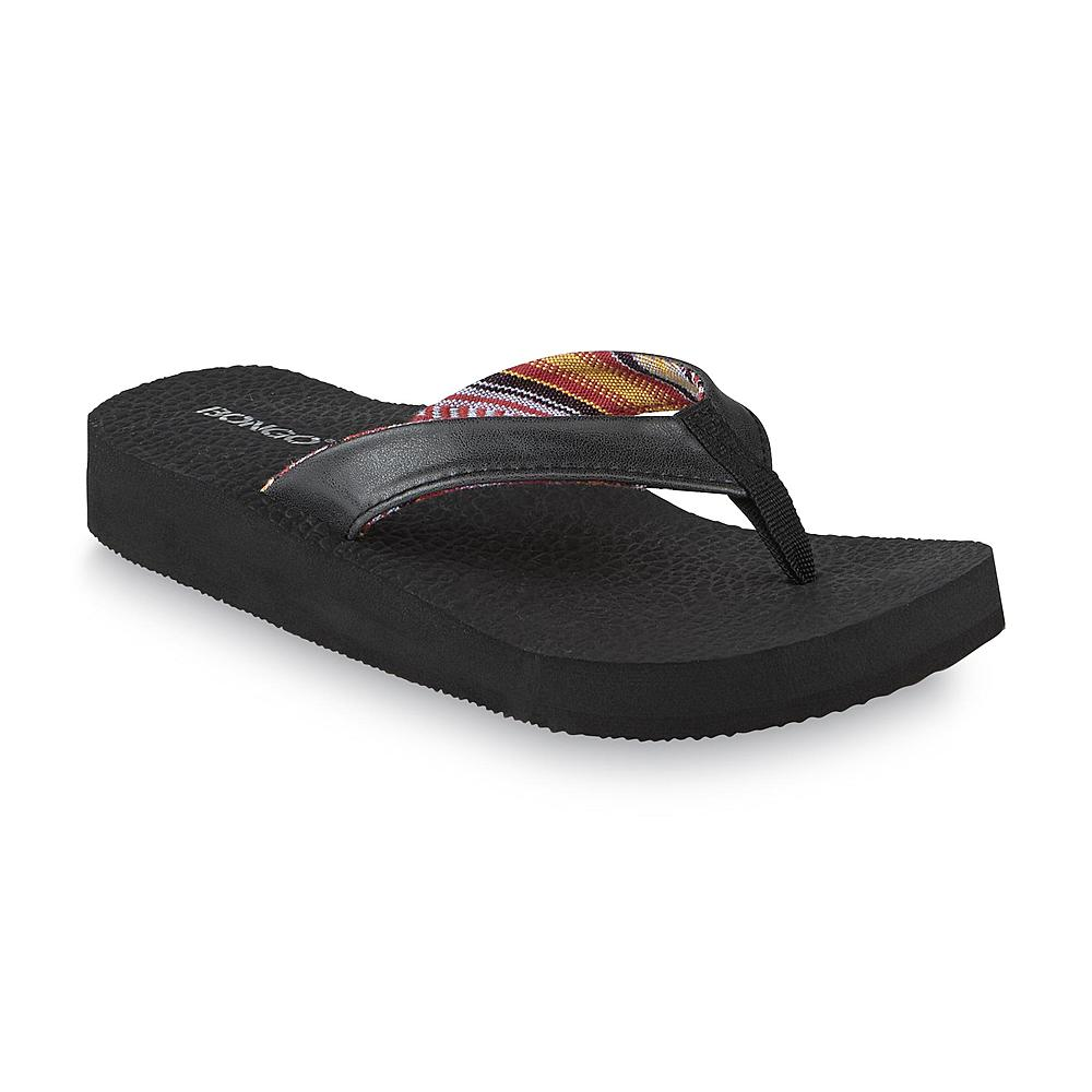 Bongo Women's Zen Black Wedge Flip-Flop