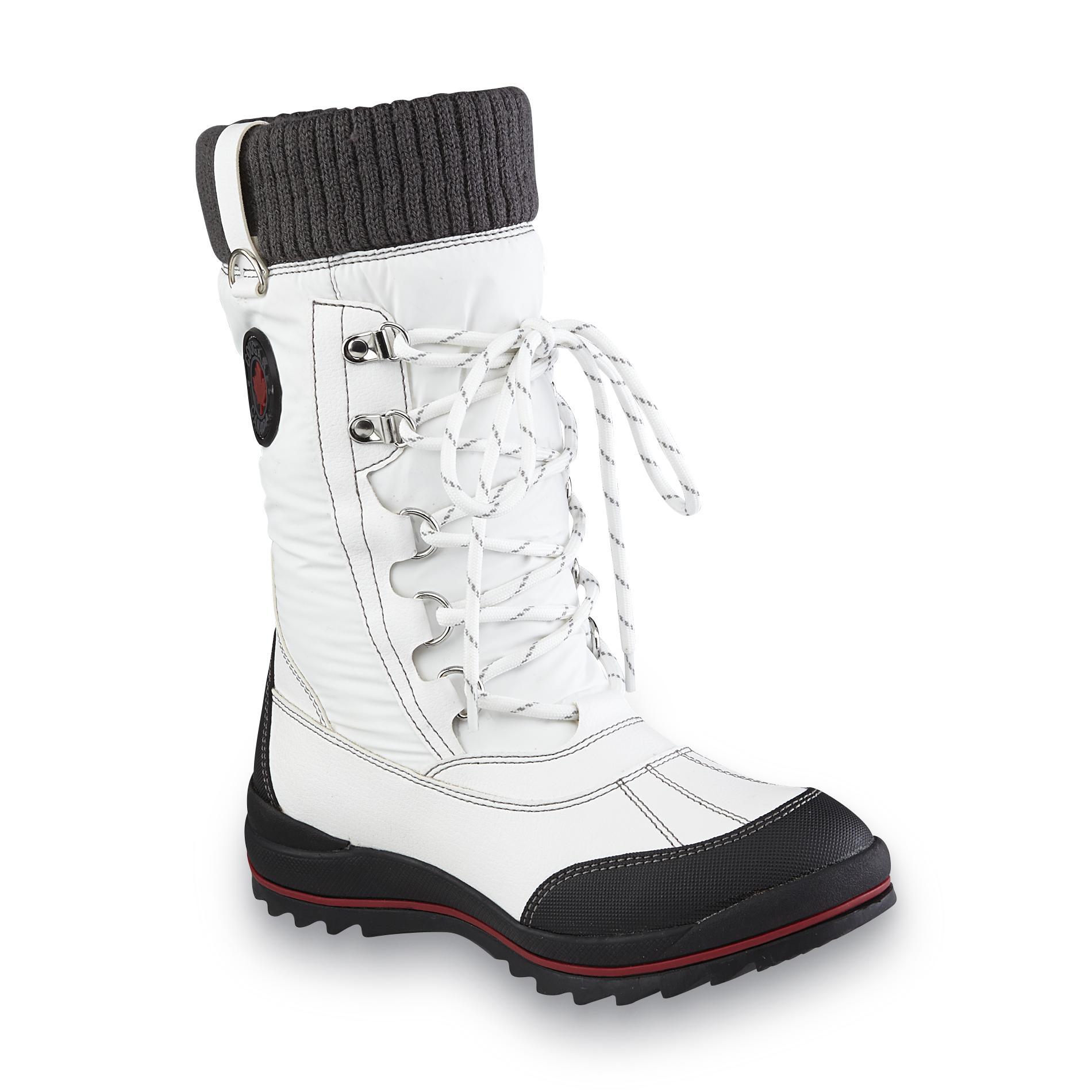 Cougar Women's Como2 White/Black/Gray Mid-Calf Winter Snow Boot