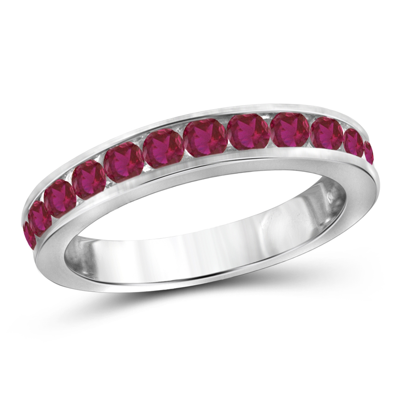 0.60ctw. Created Ruby Stackable Ring