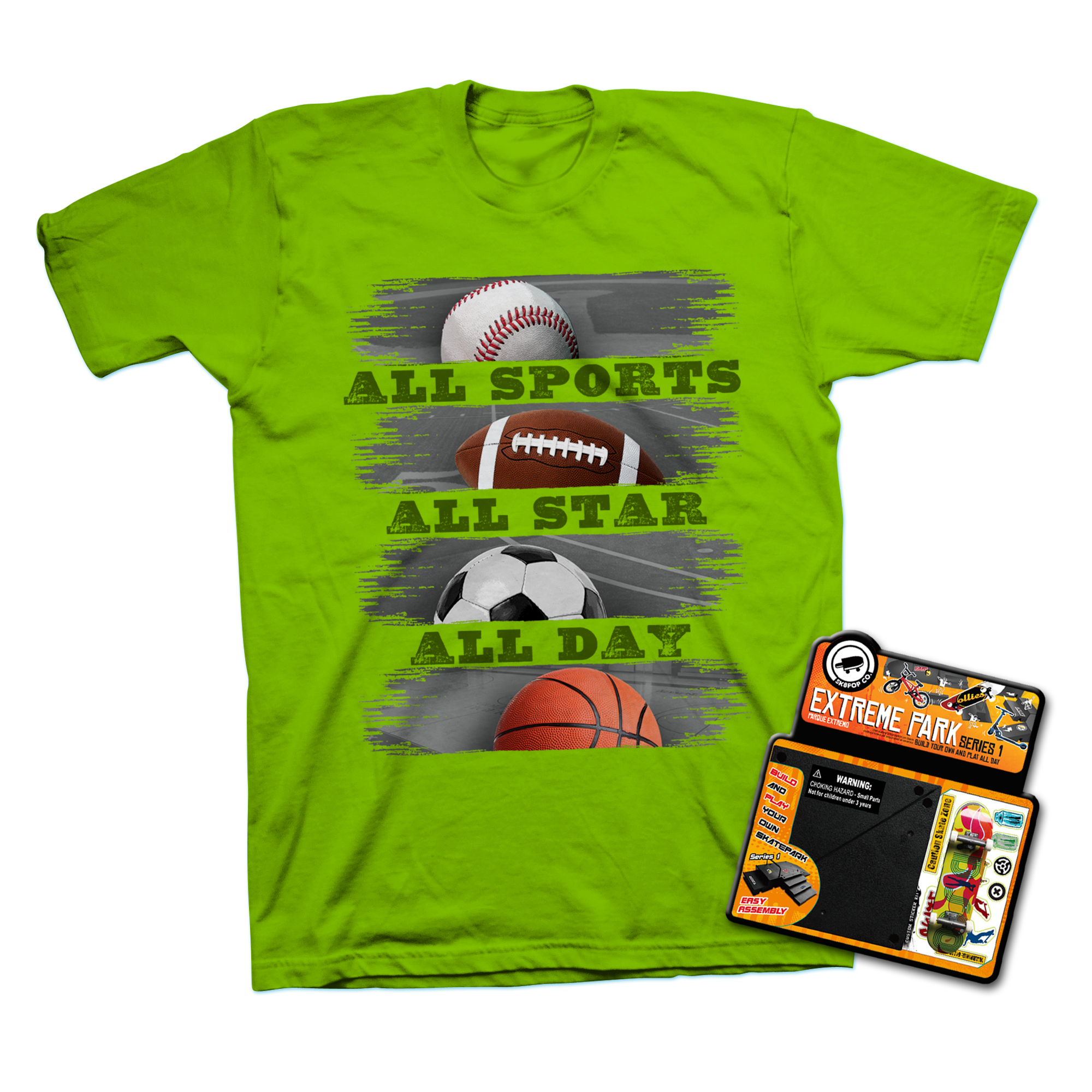 Rudeboyz Boy's Graphic T-Shirt & Toy - Sports