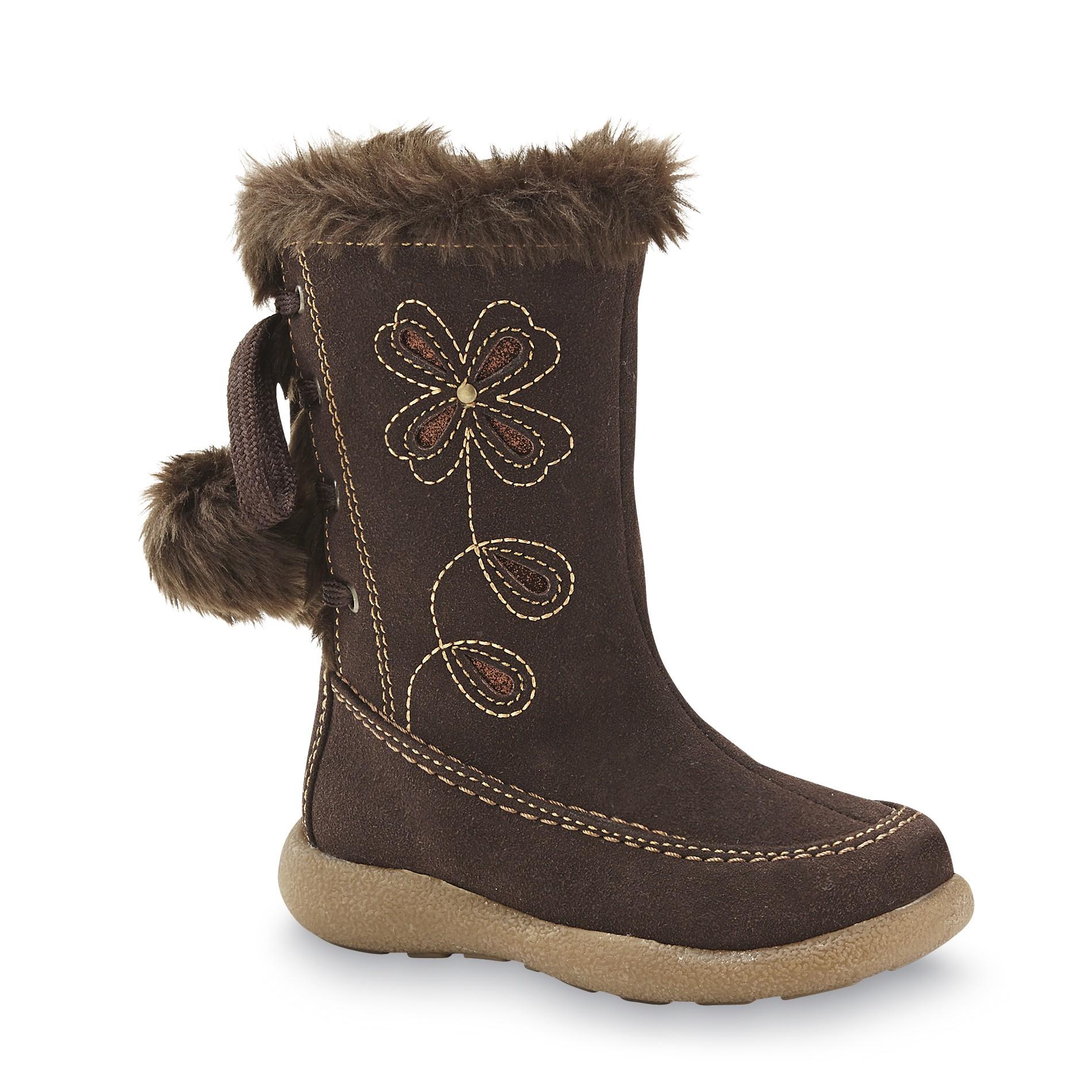 Rachel Shoes Toddler Girl's Sundance Brown Fashion Boot