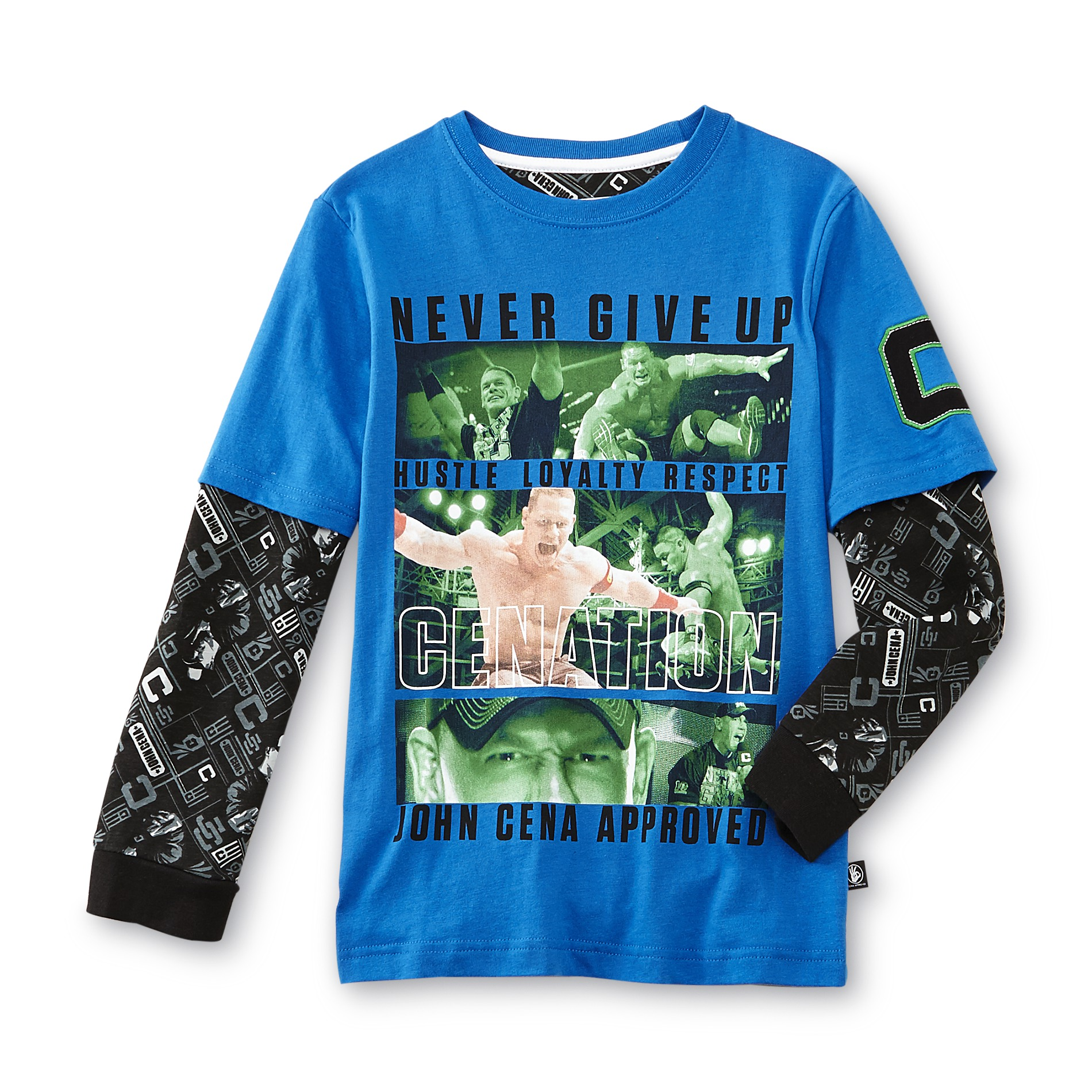Never Give Up By John Cena Boy's Long-Sleeve Graphic T-Shirt PartNumber: 049VA84946412P MfgPartNumber: WCSB137