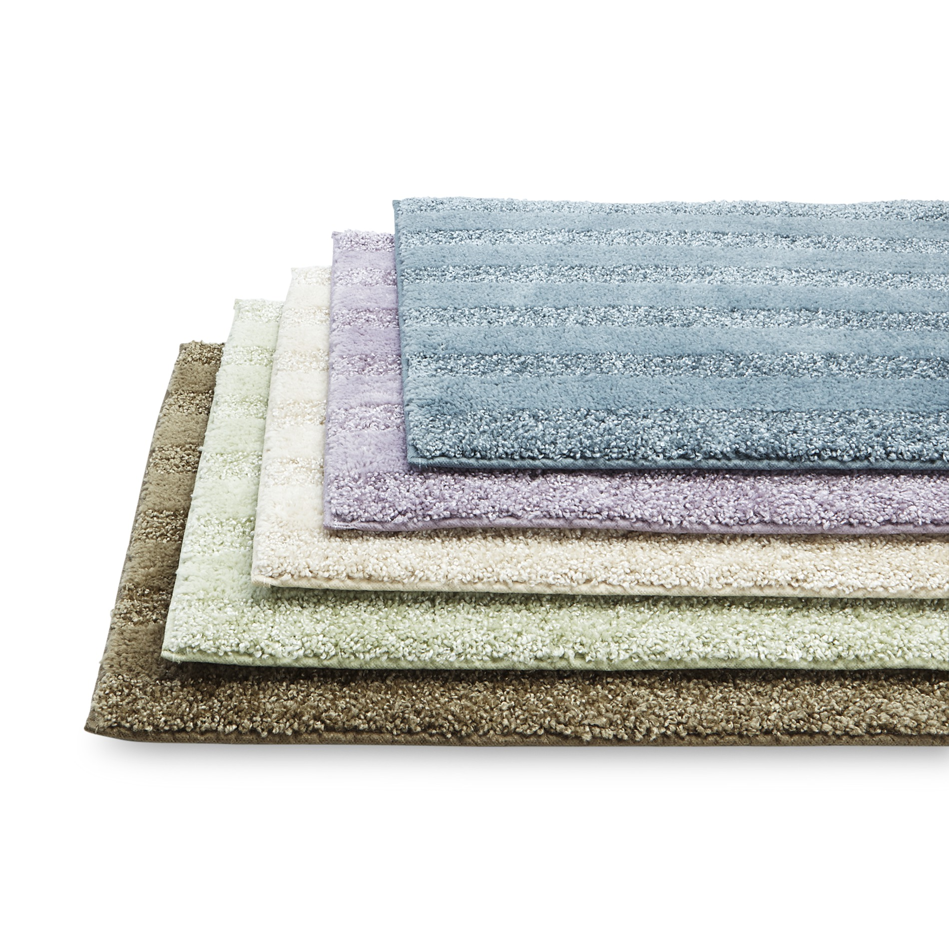 Aqua bathroom rugs - Jaclyn Smith Plush Bath Rug Universal Lid Or Contour Rug Striped Home Bed Bath Bath Bath Towels Rugs Bath Rugs Mats