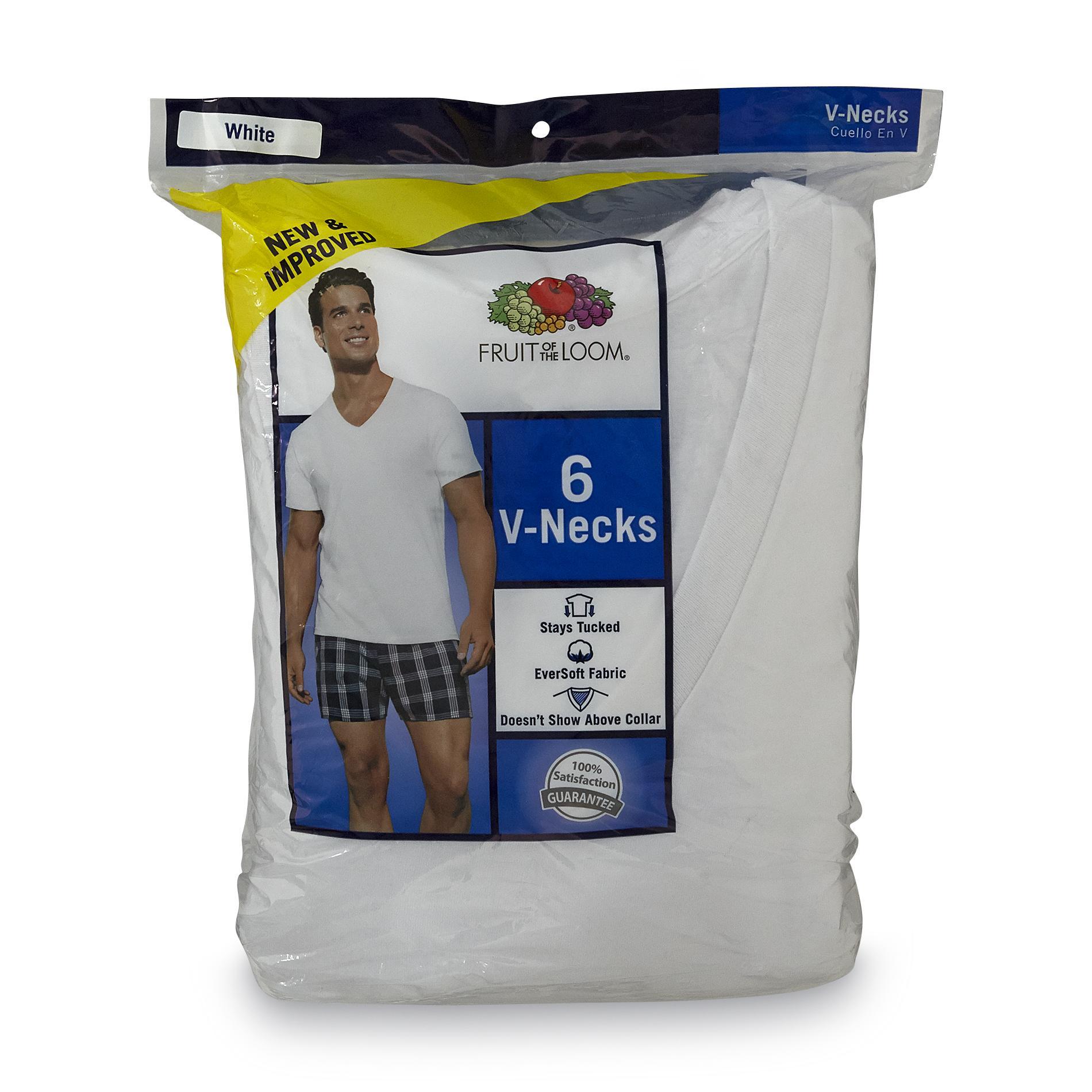 Fruit of the Loom Men's 6-Pack V-Neck T-Shirts