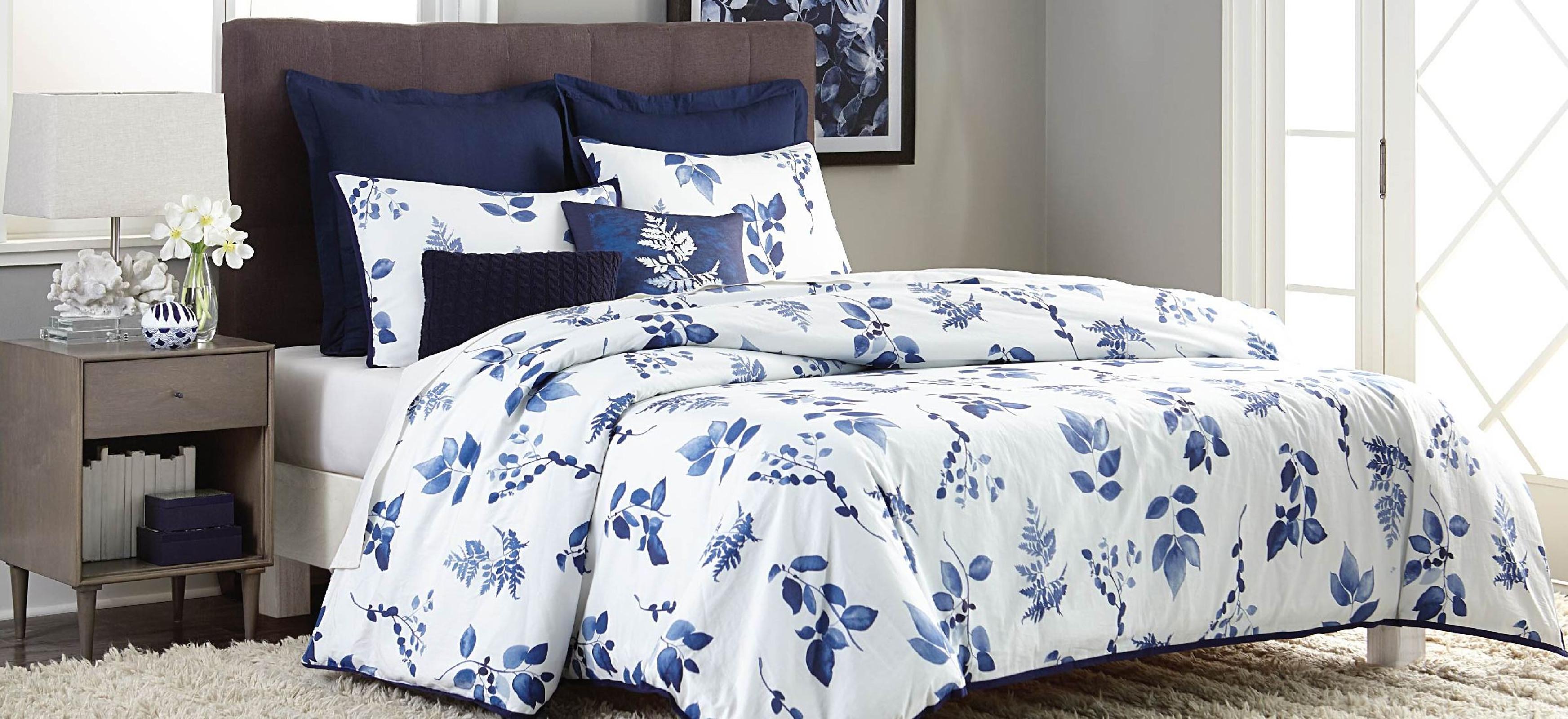 Image of Metaphor 5pc Indigo Comforter Set - Botanical, Blue Indigo