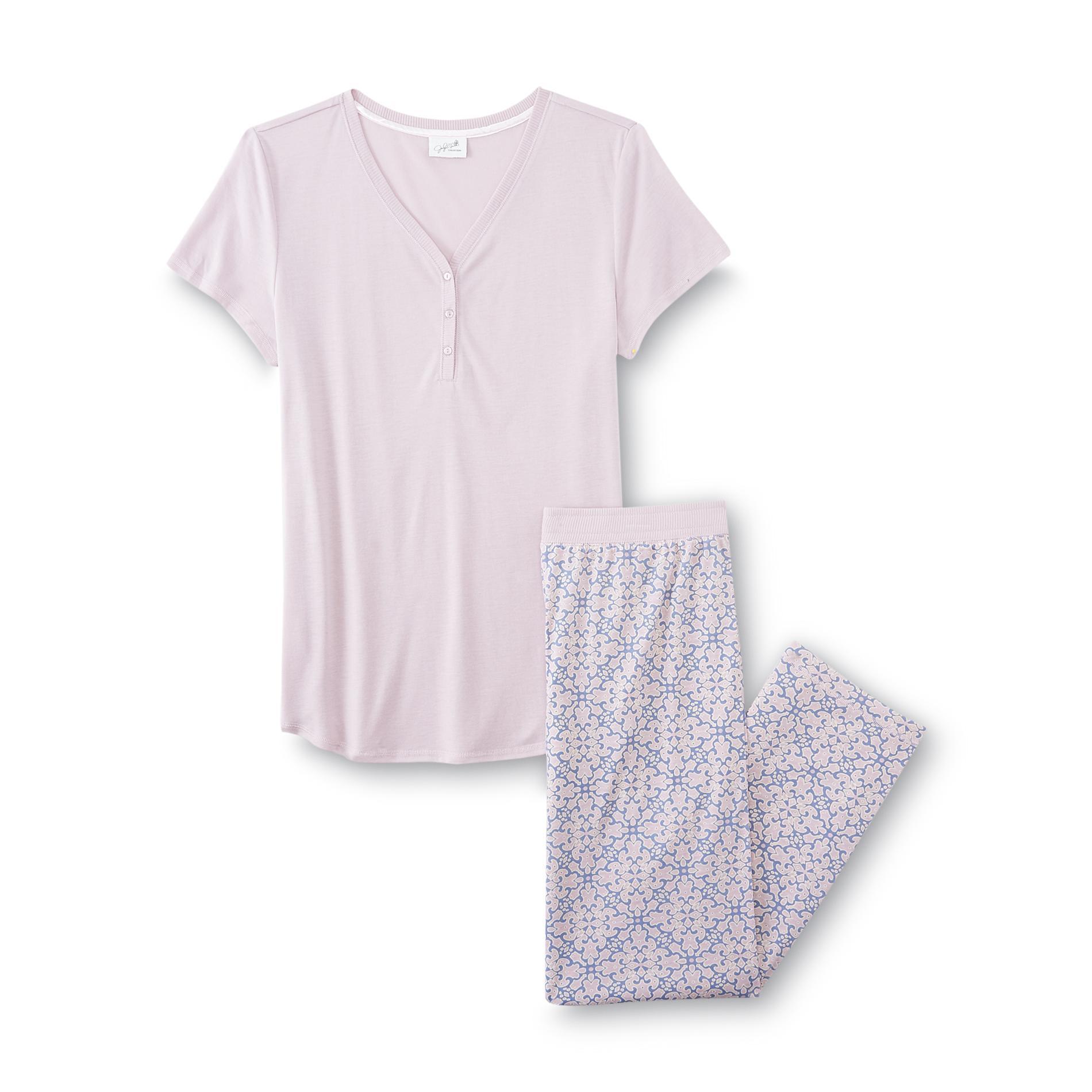 Jaclyn smith women 39 s flannel pajama shirt pants dream for Women s flannel sleep shirt