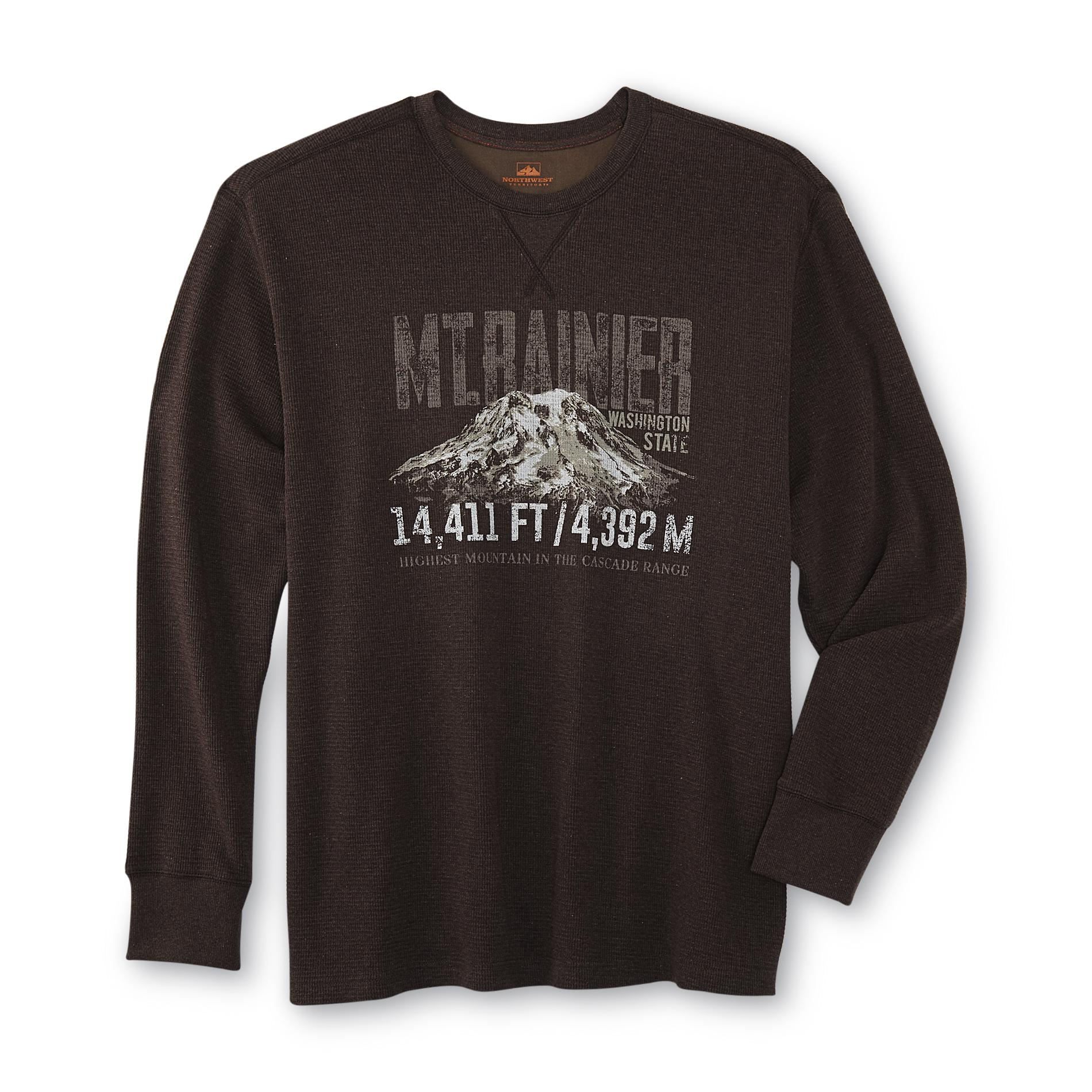 Northwest Territory Men's Big & Tall Graphic Thermal Shirt - Mt. Rainier