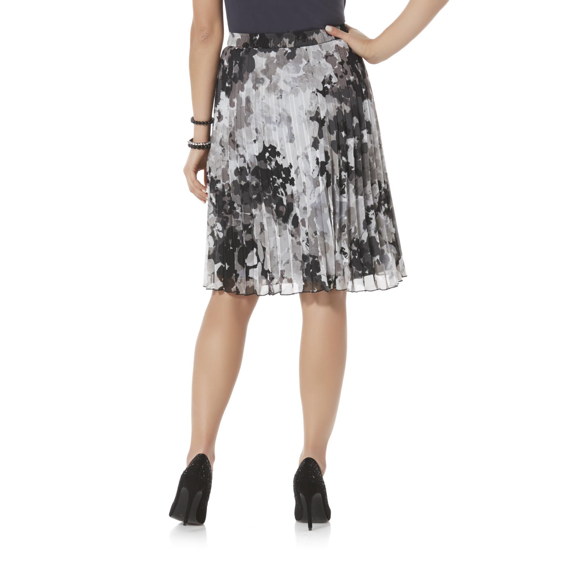 Covington Petite's Pleated Skirt - Floral