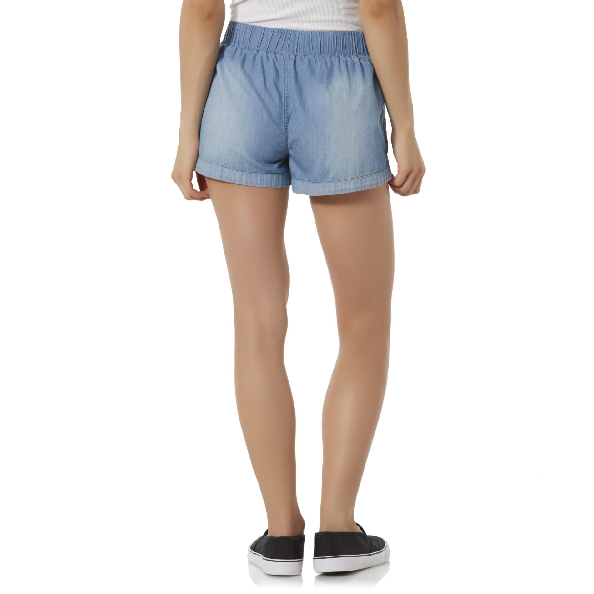 Bongo Junior's High Waist Chambray Shorts
