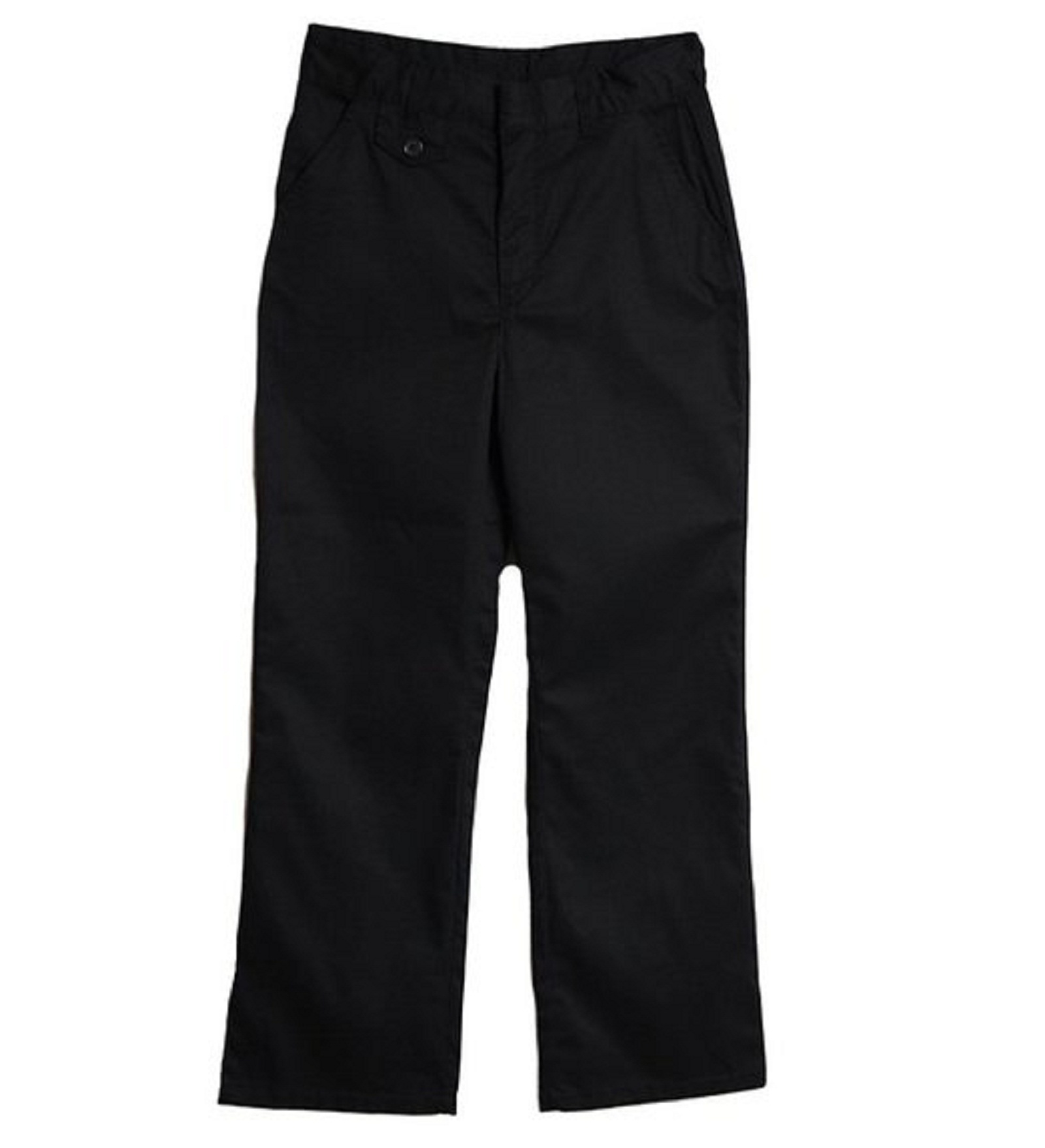Genuine School Uniform Girls 7-16 Straight Leg Flat Front Pants, Girl's, Size: 14, Black 049V009150537000