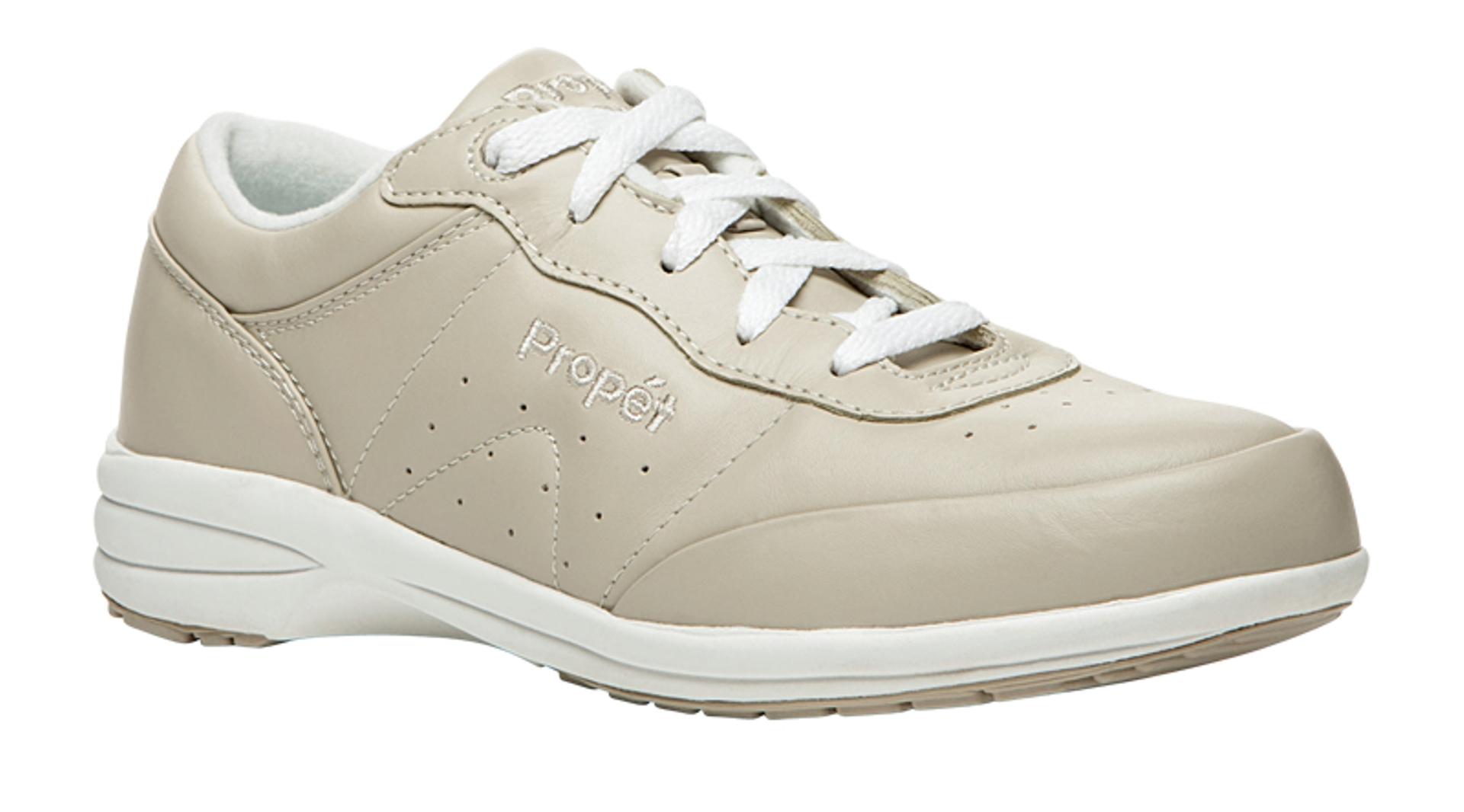 Women's Washable Walker Bone/White Sneaker - Wide Widths Available