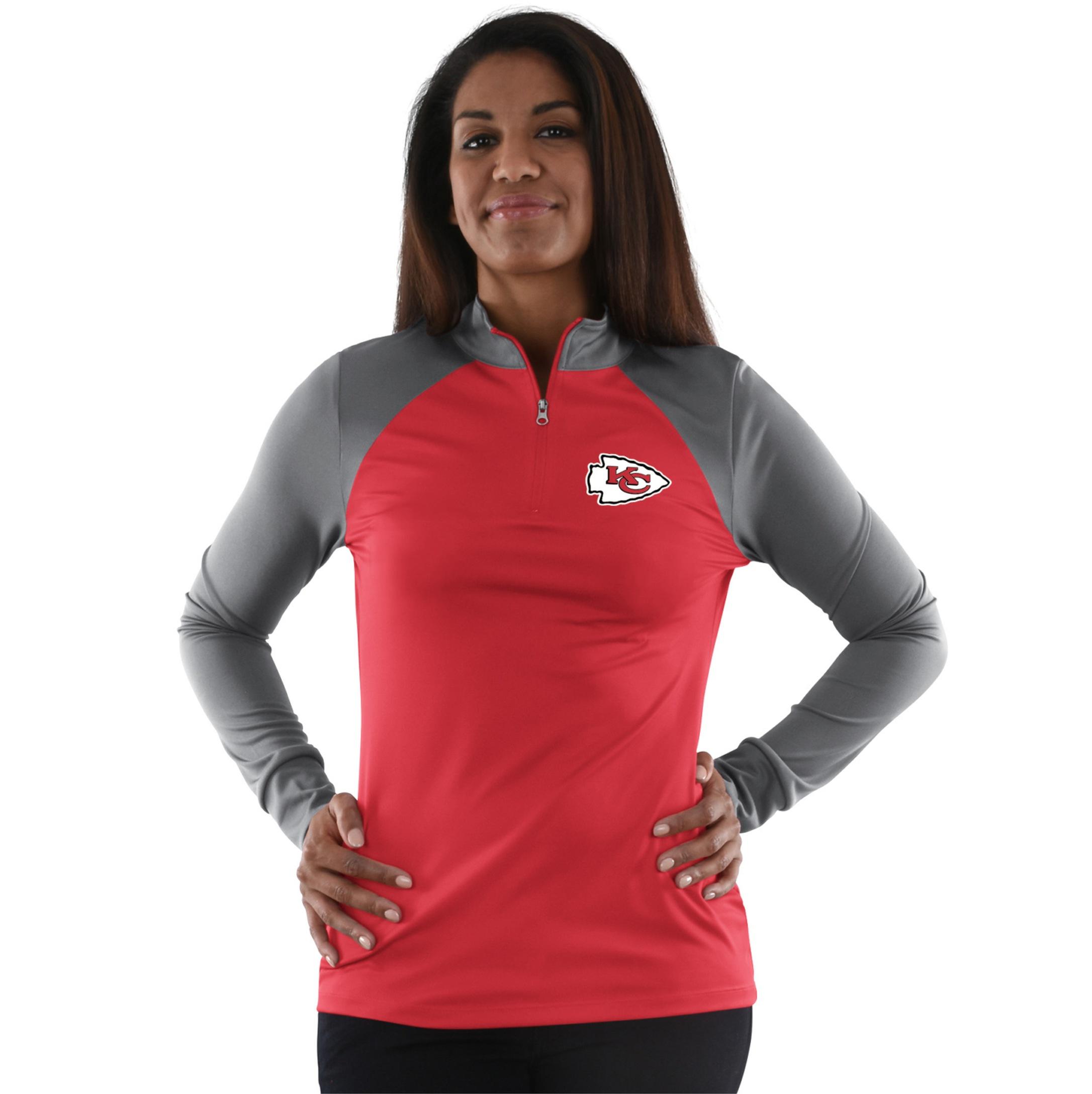 NFL Women's Quarter-Zip Long-Sleeve Top - Kansas City Chiefs PartNumber: 046VA99186712P MfgPartNumber: DEAY-8R2