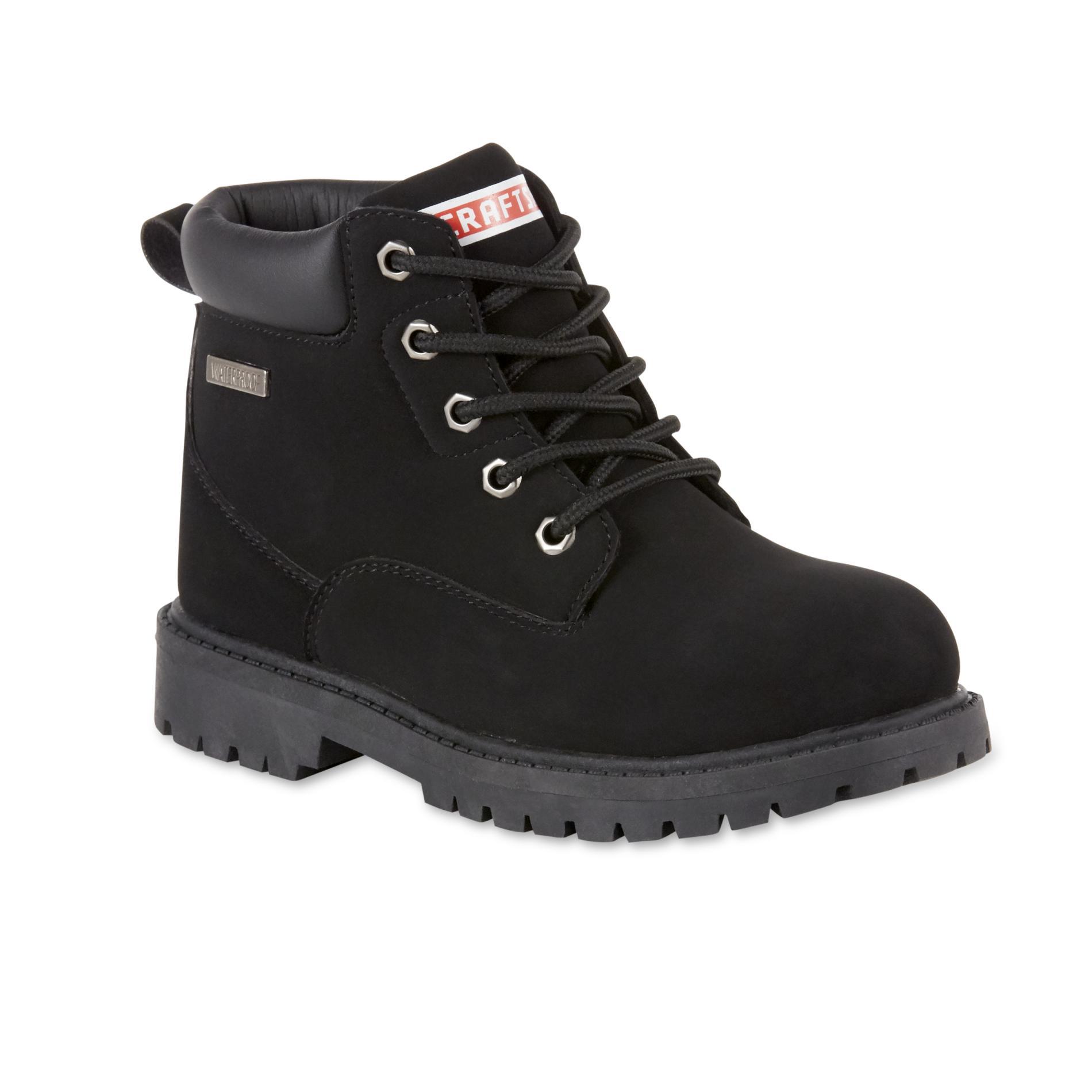 Craftsman Boys' Black Tom Waterproof Lace-Up Boot PartNumber: 035VA99394112P MfgPartNumber: 11984
