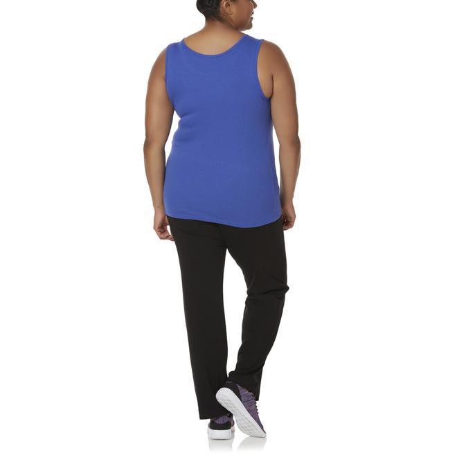 Everlast® Women's Plus Tank Top & Bootcut Yoga Pants