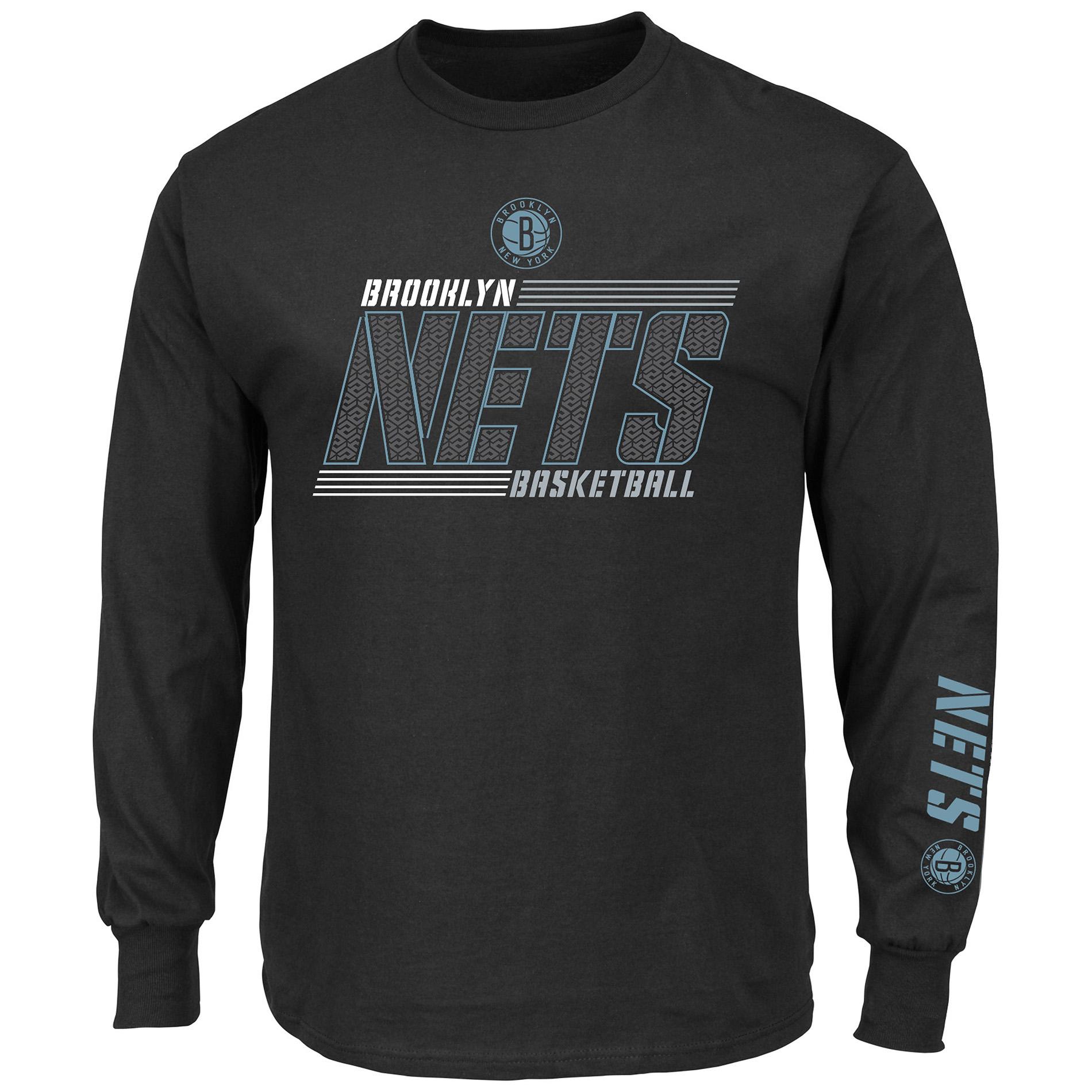 NBA Men's Long-Sleeve Pullover - Brooklyn Nets, Size: Large