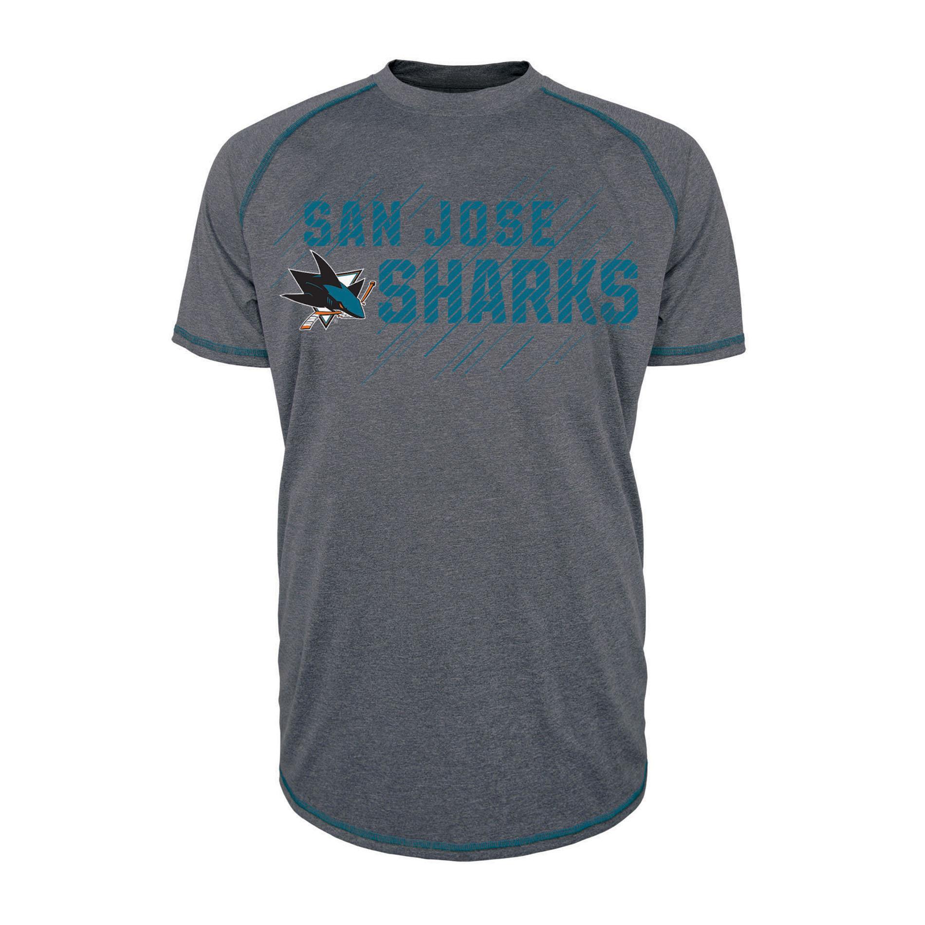 NHL Men's Short-Sleeve Raglan T-Shirt - San Jose Sharks PartNumber: 046VA100378112P MfgPartNumber: H0MCD1AKMF