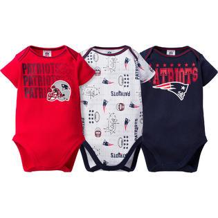 NFL Infant Boys  3-Pack Short-Sleeve Bodysuits - New England Patriots 297f1395c