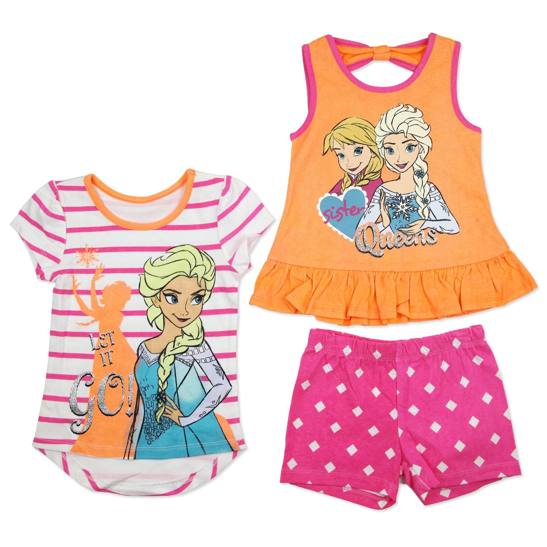 Disney Baby Frozen Toddler Girl's T-Shirt, Tank Top & Shorts