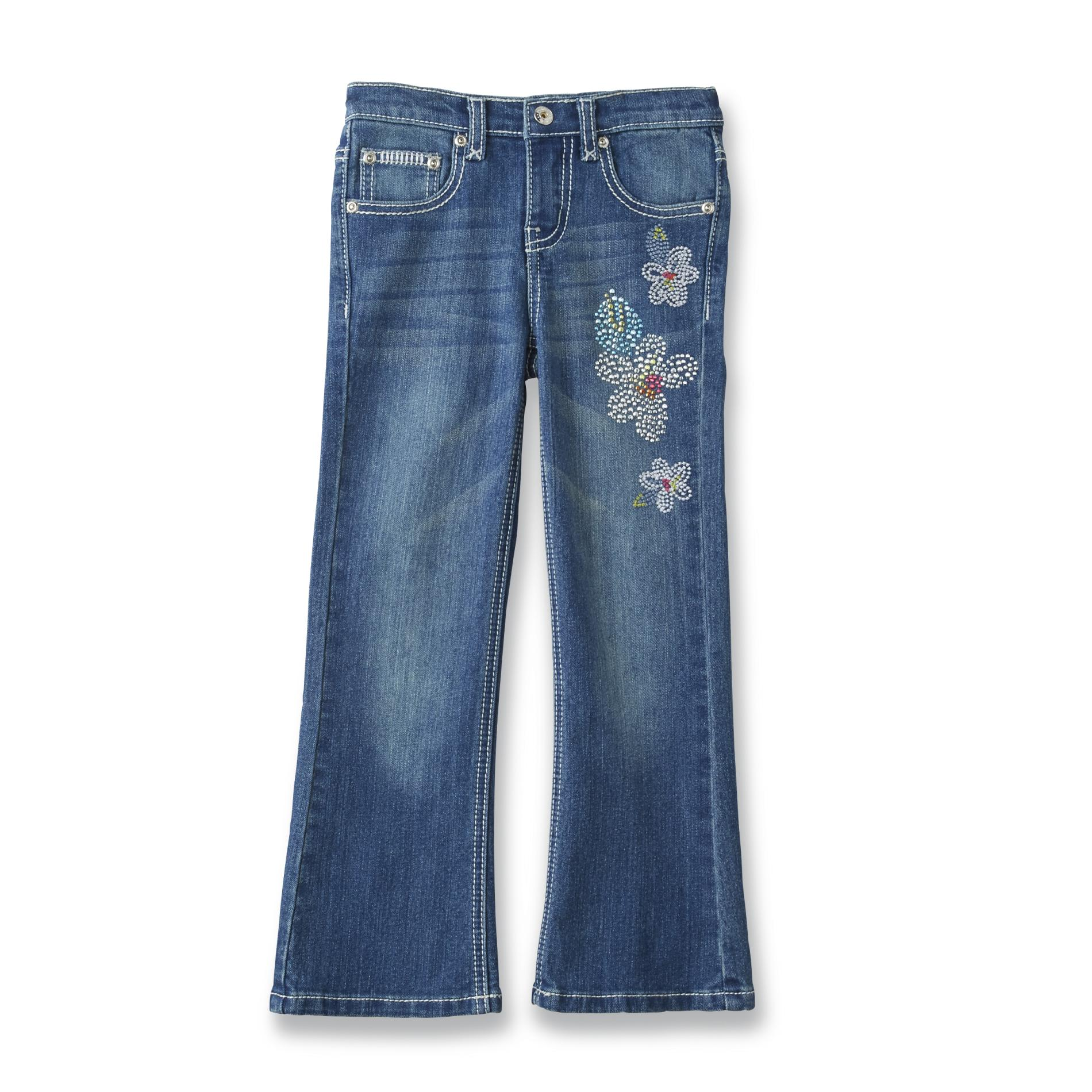Girl's Embellished Bootcut Jeans