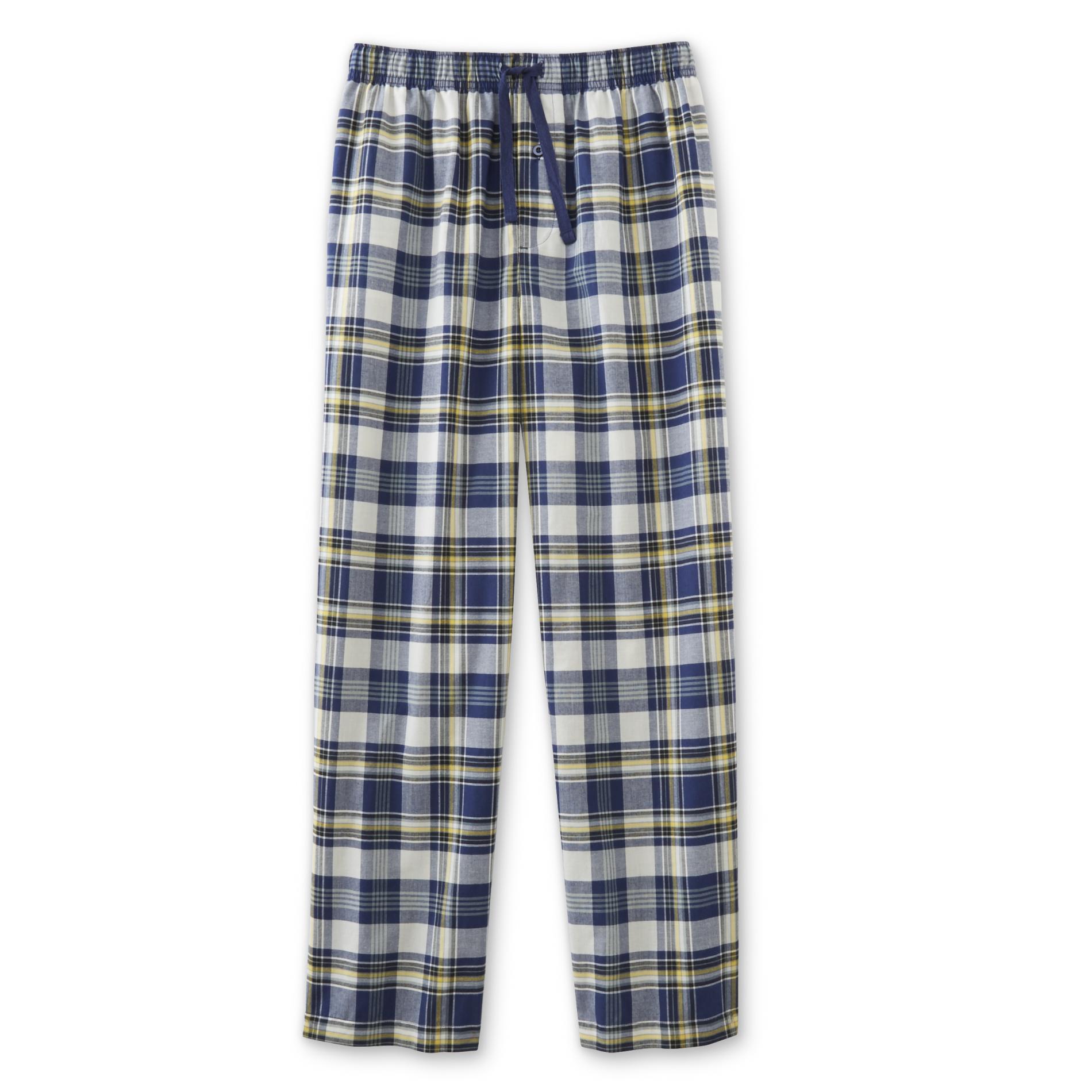 Men's Big & Tall Poplin Pajama Pants - Plaid