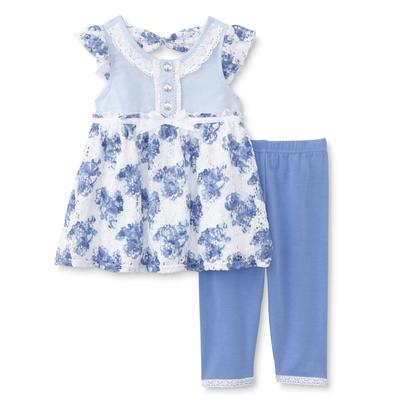 Young Hearts Infant & Toddler Girl's Lace Tunic & Leggings - Floral