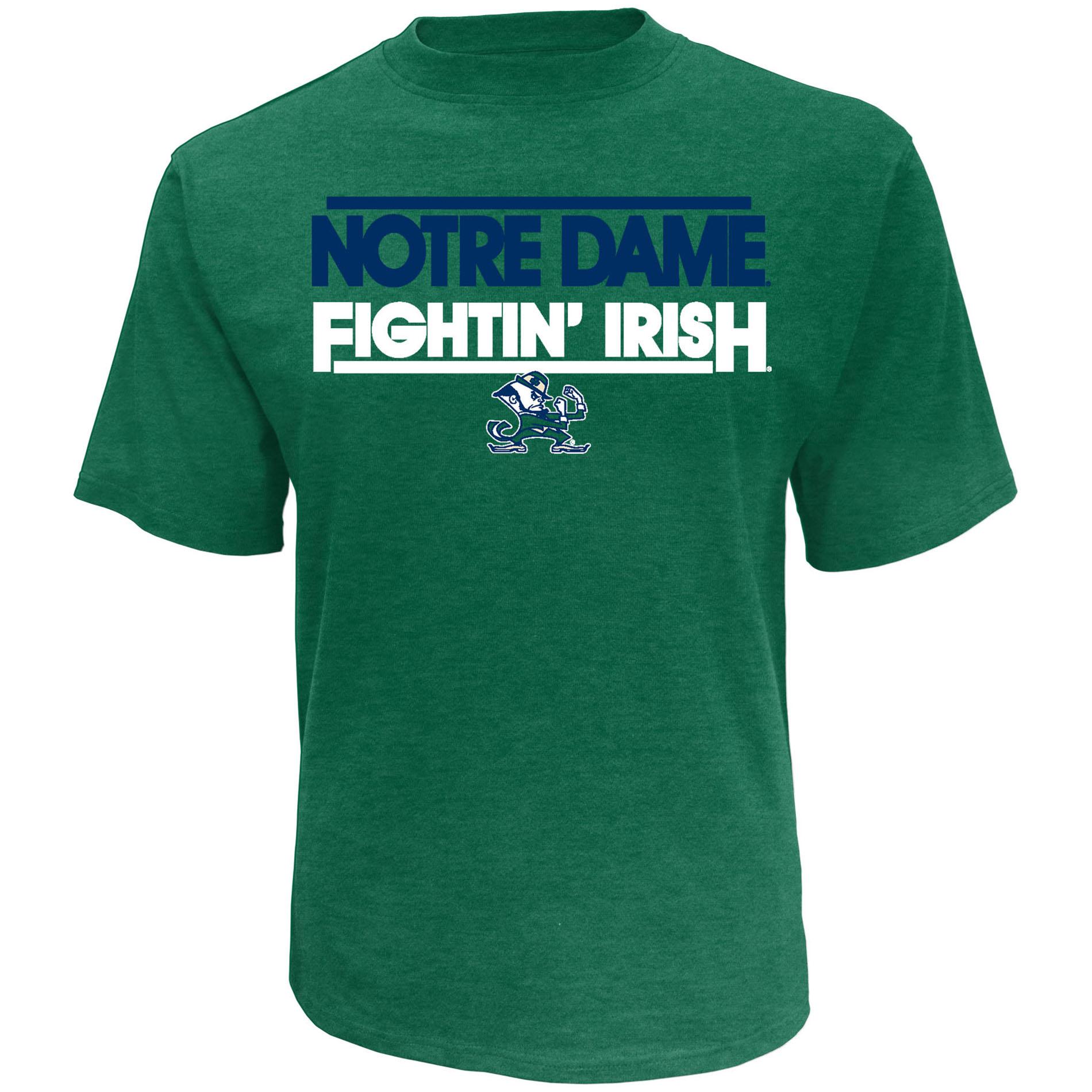 NCAA Mens' University of Notre Dame Fighting Irish Short Sleeve Athletic Tee PartNumber: 046VA88426012P MfgPartNumber: 7AMCA20KMF